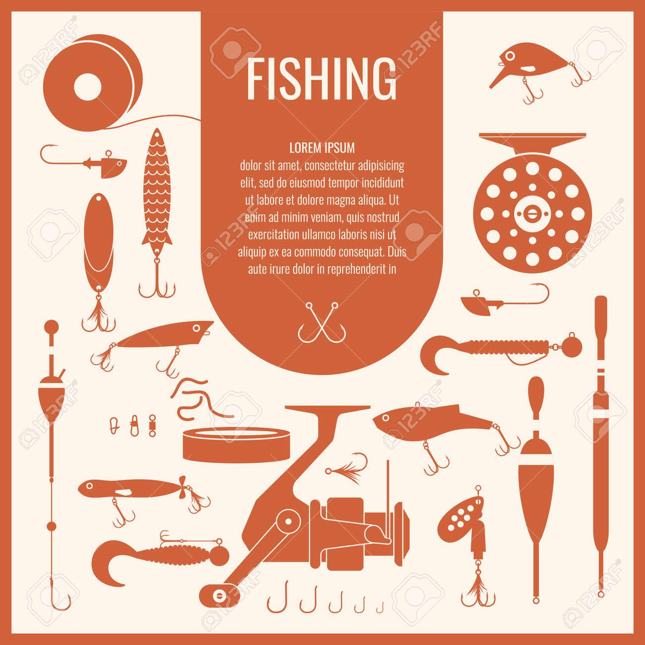 set. fishing tackle.fishing reel, hooks, float, fishing line, Reel Combo