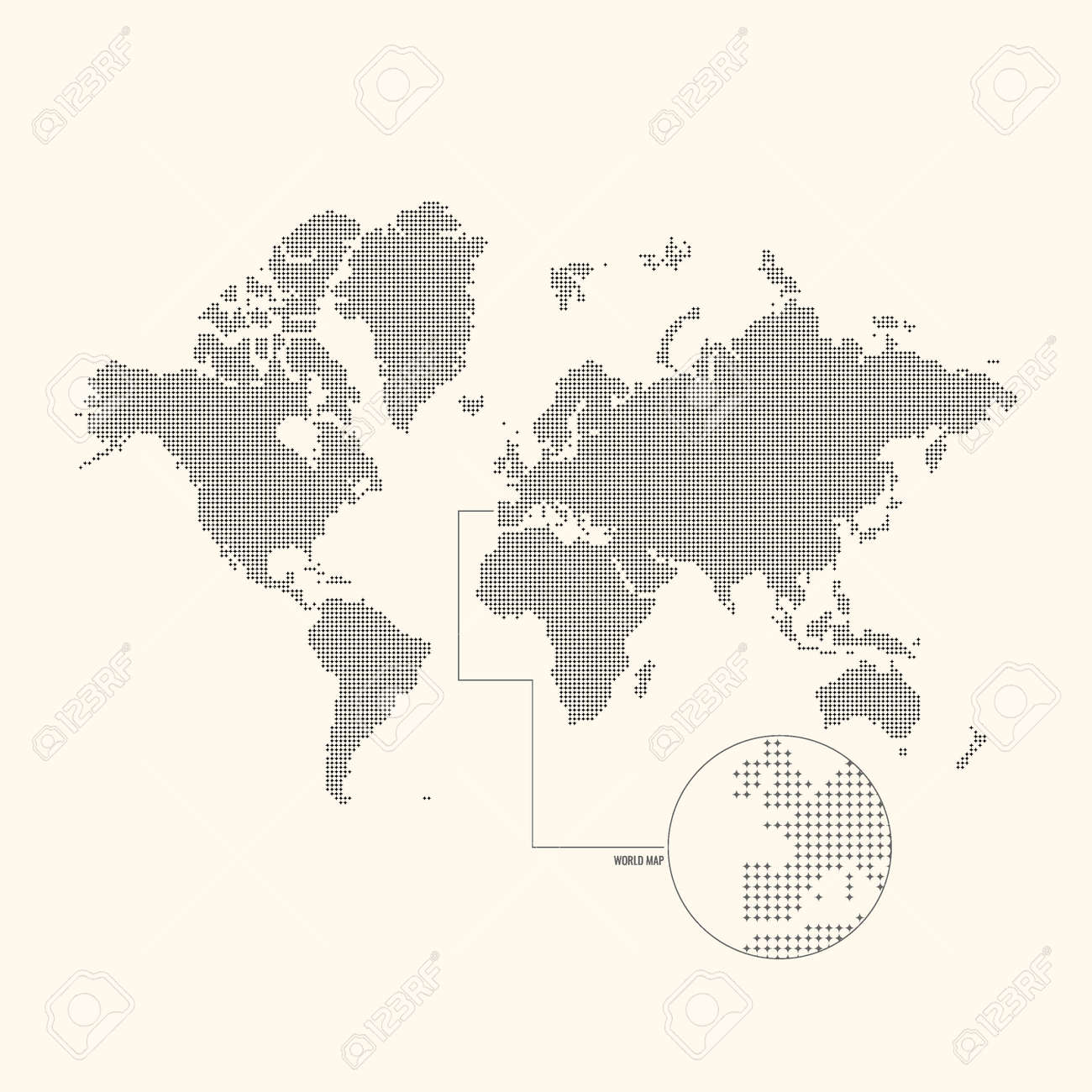 Dotted world map vector illustration royalty free cliparts dotted world map vector illustration stock vector 48192704 gumiabroncs Choice Image