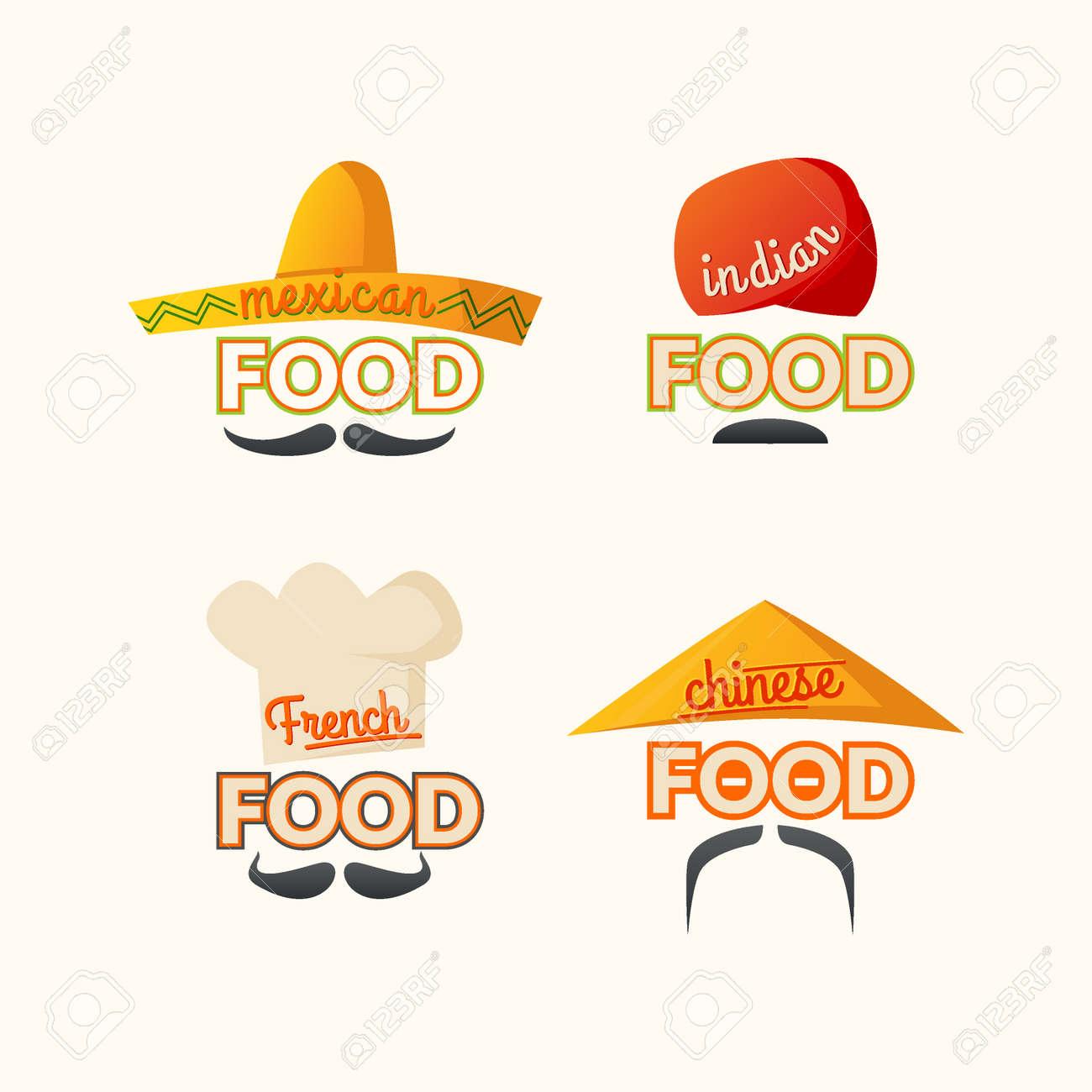 Set Mexikanische, Chinesische, Indische, Französisch Küche, Das ...