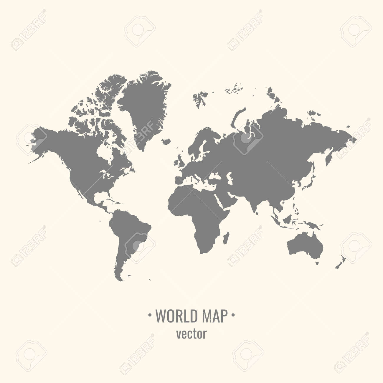 Silhouette world map on a light background the image of the silhouette world map on a light background the image of the continents vector illustration gumiabroncs Images