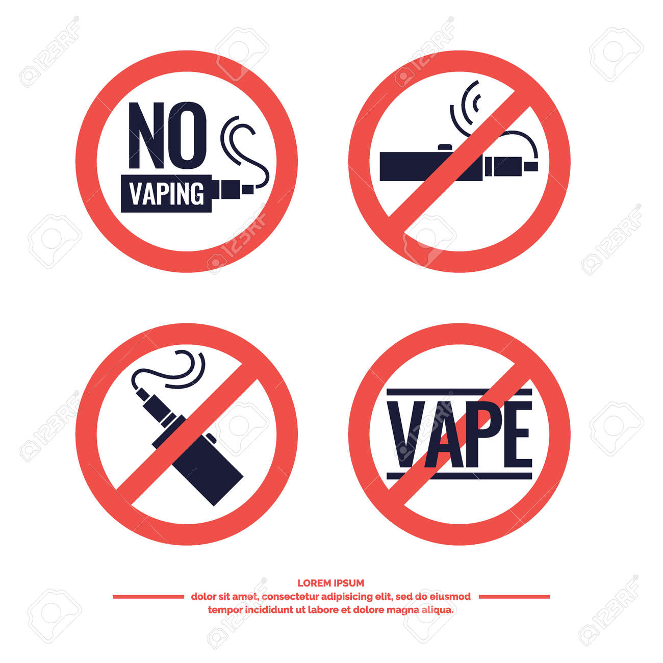 no smoking sign prohibiting drawing and poster of electronic