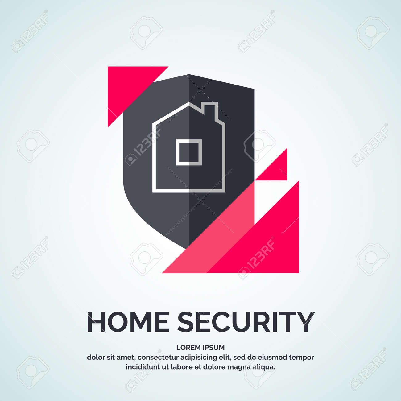Modern Minimalistic Vector Logo Design For Home Security ...