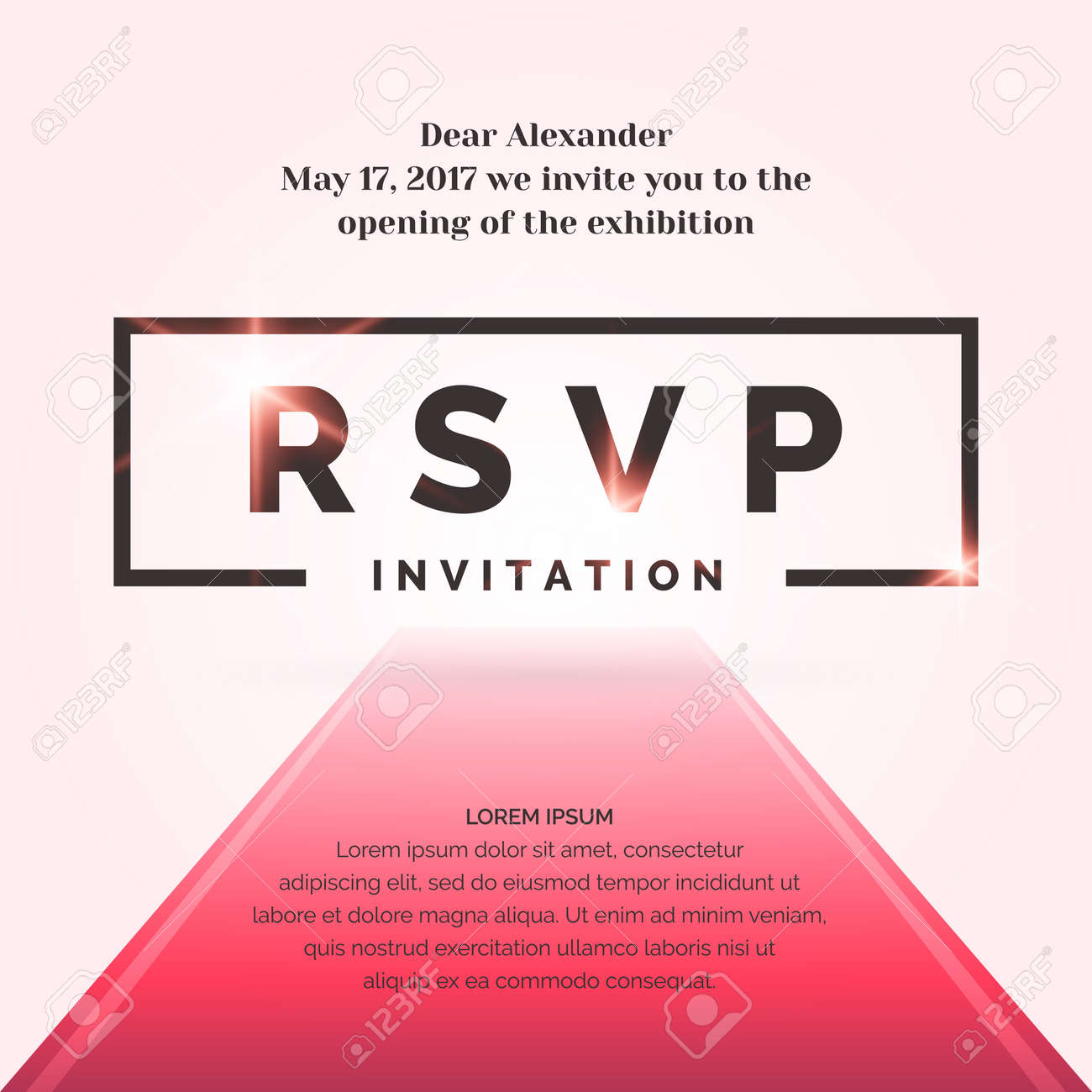 Rsvp Invitation Template For The Event Vector Illustration