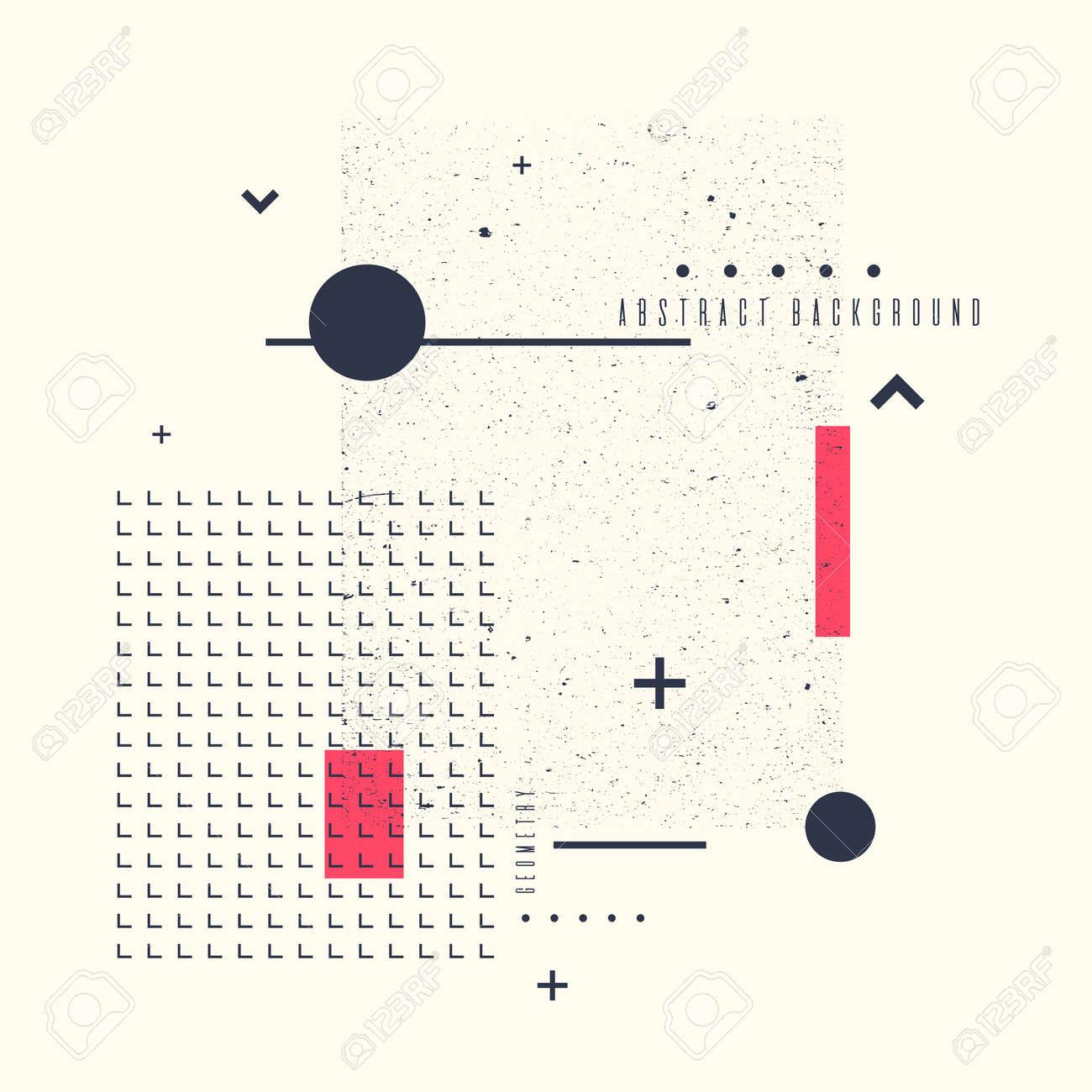 Fond Geometrique Moderne Art Abstrait Avec Style Plat Et Minimaliste