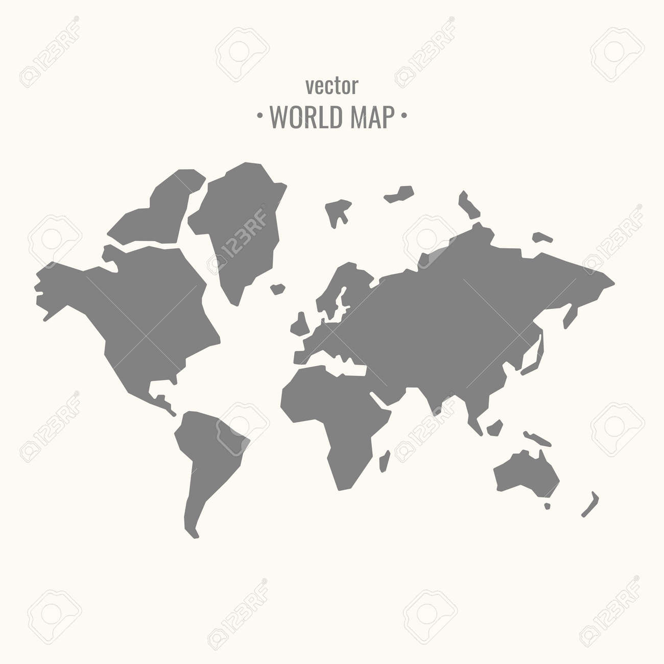 Vector illustration of world map in trendy flat minimal style vector vector illustration of world map in trendy flat minimal style on a light background gumiabroncs Gallery