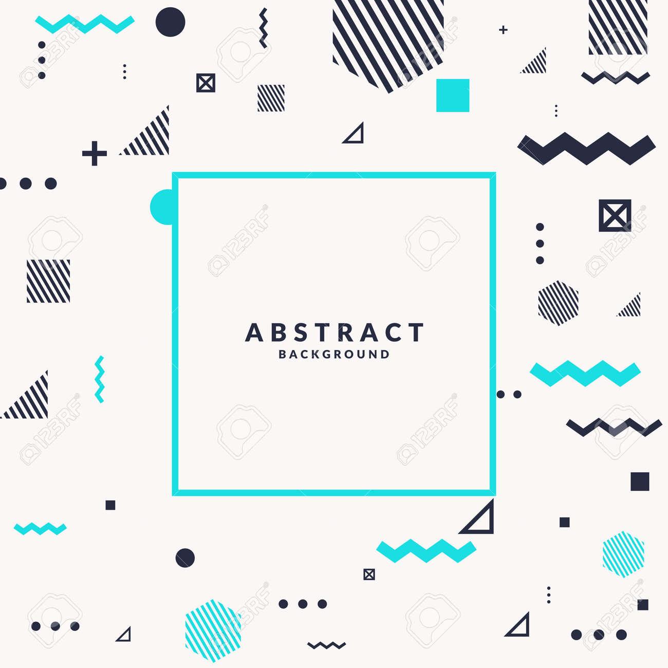 Fond Geometrique De L Art Abstrait Branche Avec Style Plat Et