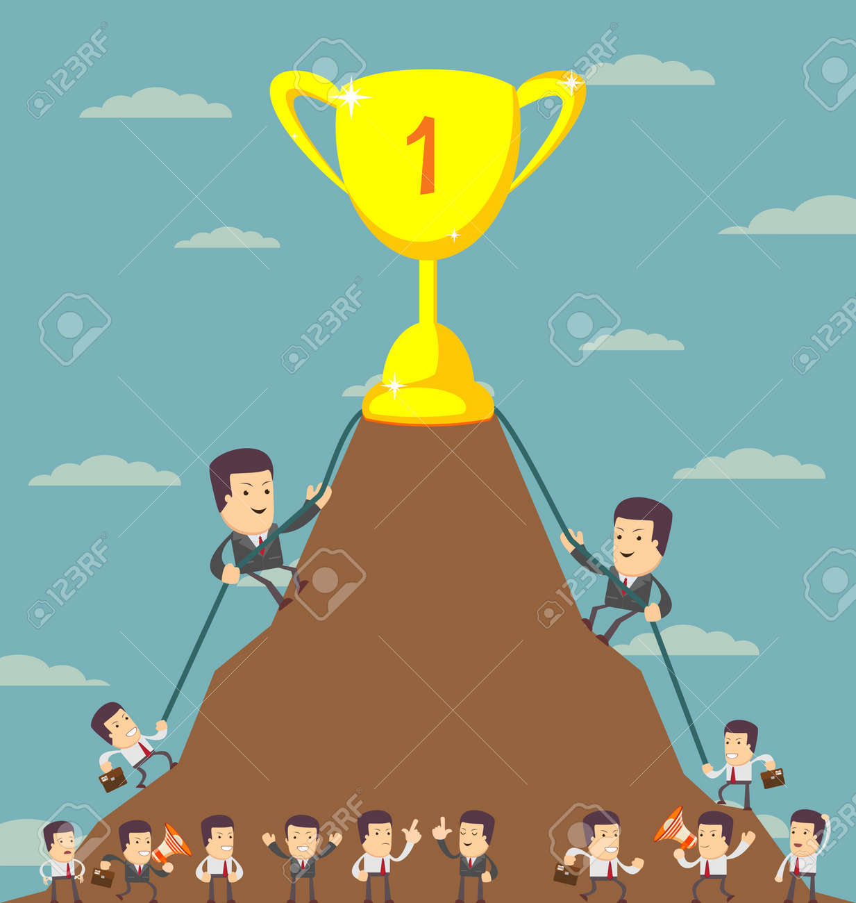 business men in career race vector illustration of a group of business men in career race vector illustration of a group of business men running in