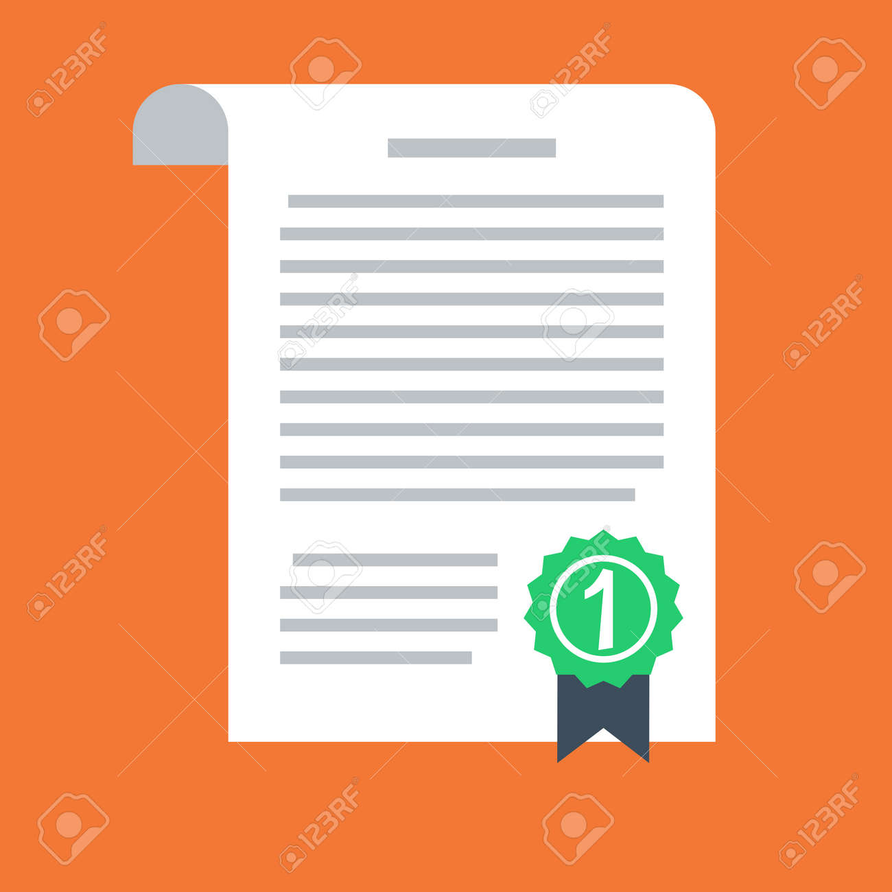 Contract vector icon in a flat style isolated on a colored background. - 134433458