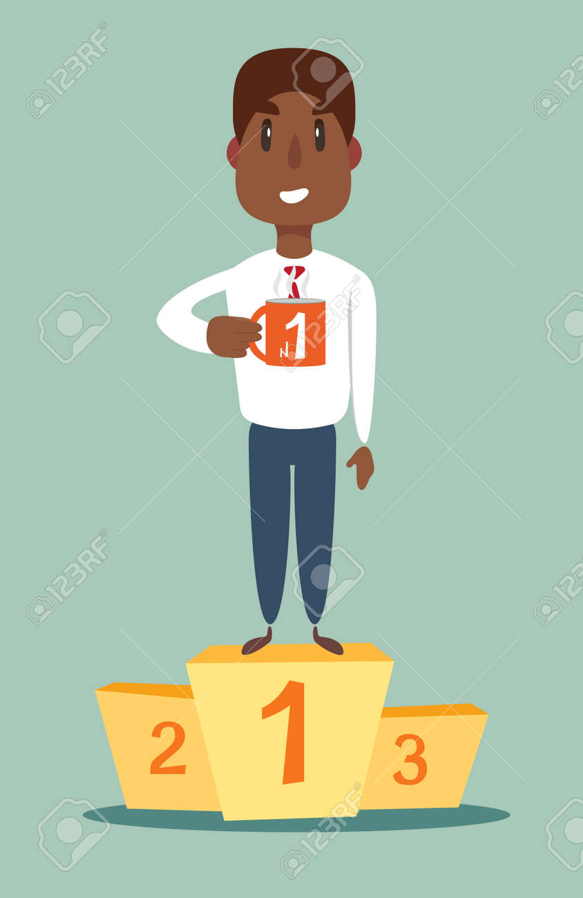 number one businessman on top of the podium - 137338716