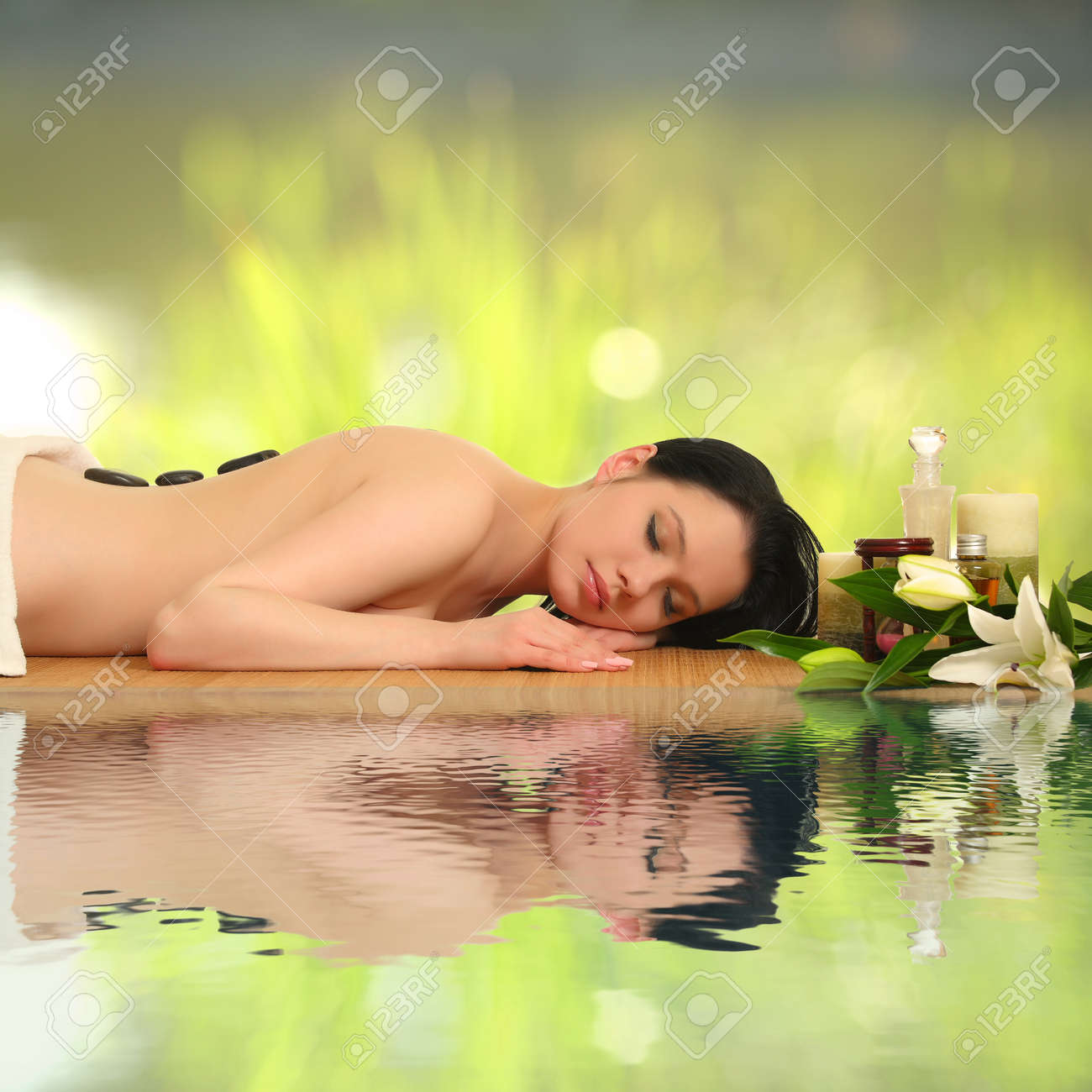 portrait of a girl in a spa Stock Photo - 16444226