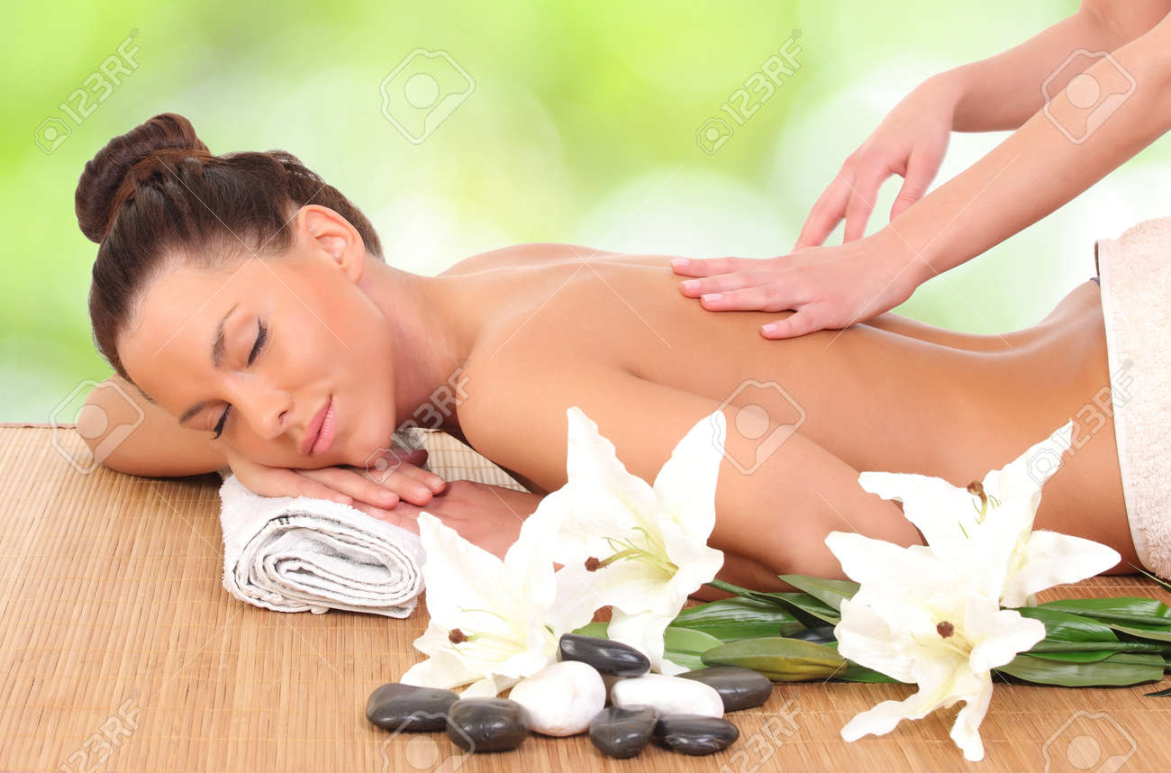Young woman getting massage in massage salon. Stock Photo - 23972010