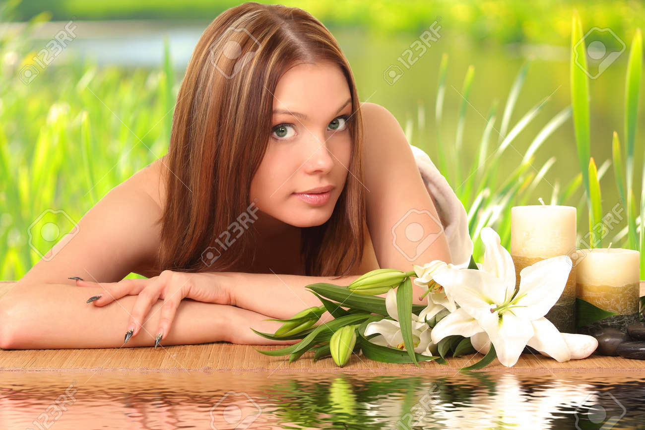 woman having body care in an sp Stock Photo - 27942999