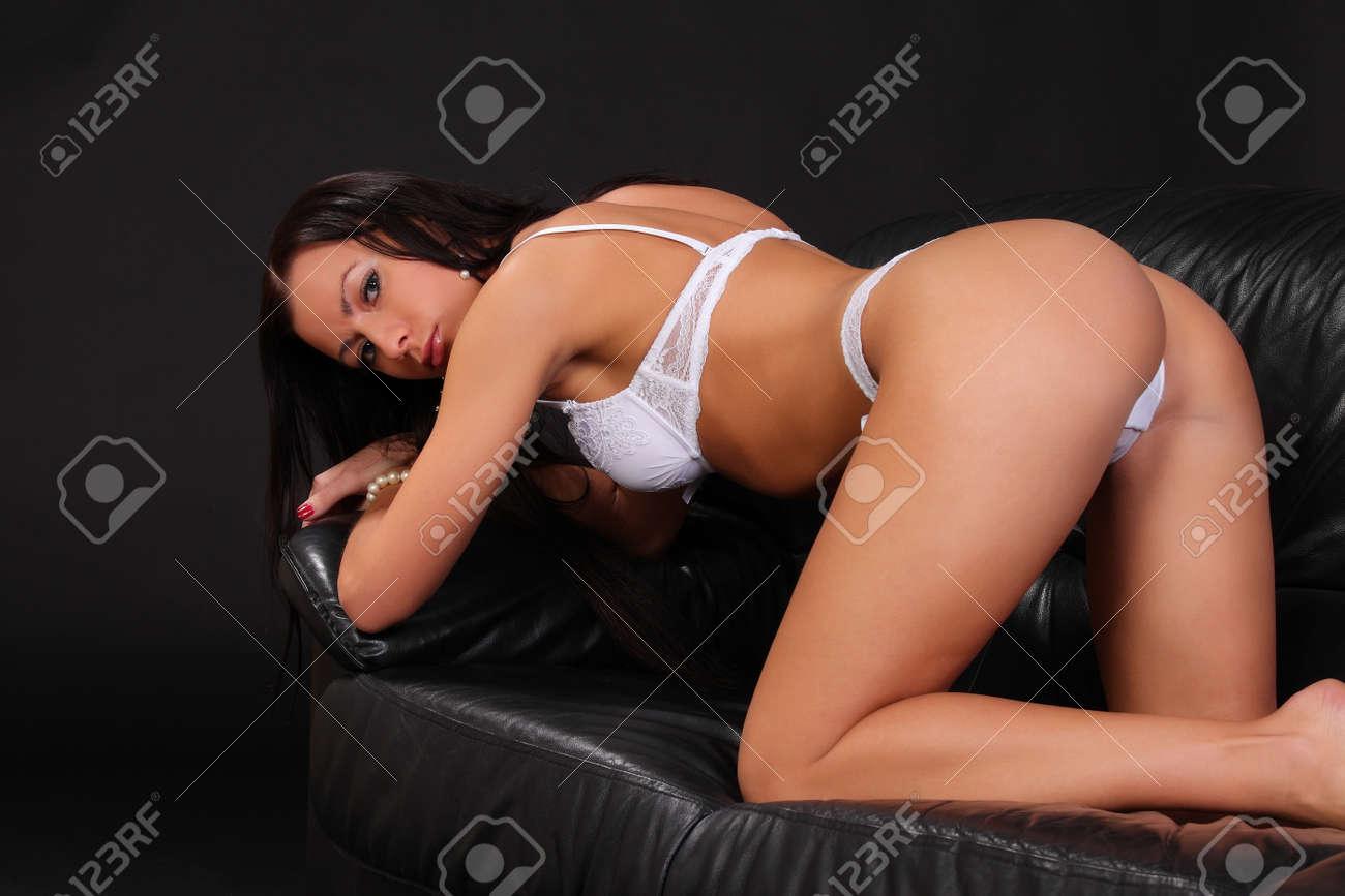 Brünett sexy Erin Burnett