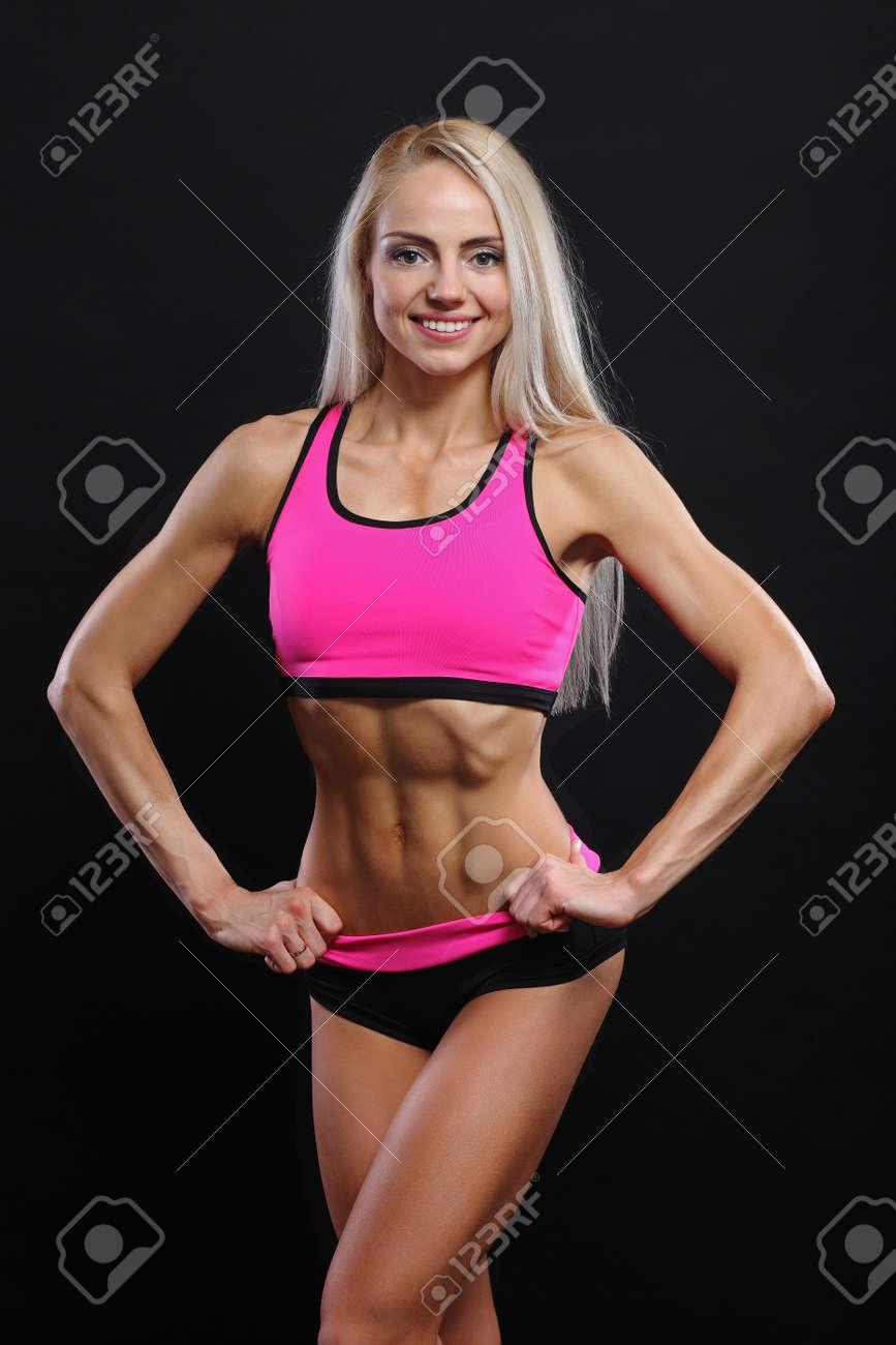 banque dimages muscles abdominaux jeune athlte jeune fille fitness