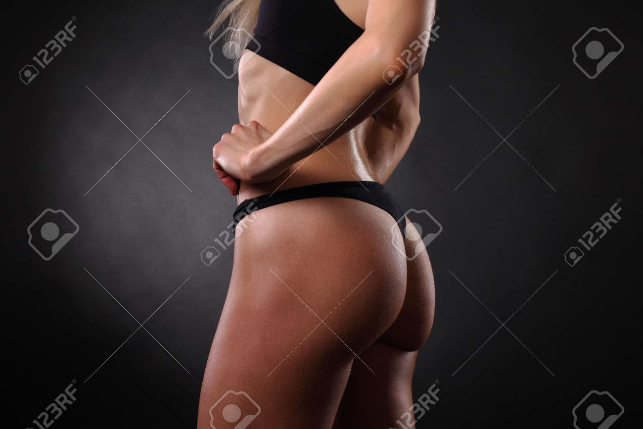 sexy beautiful athletic ass . beautiful athletic woman stock photo