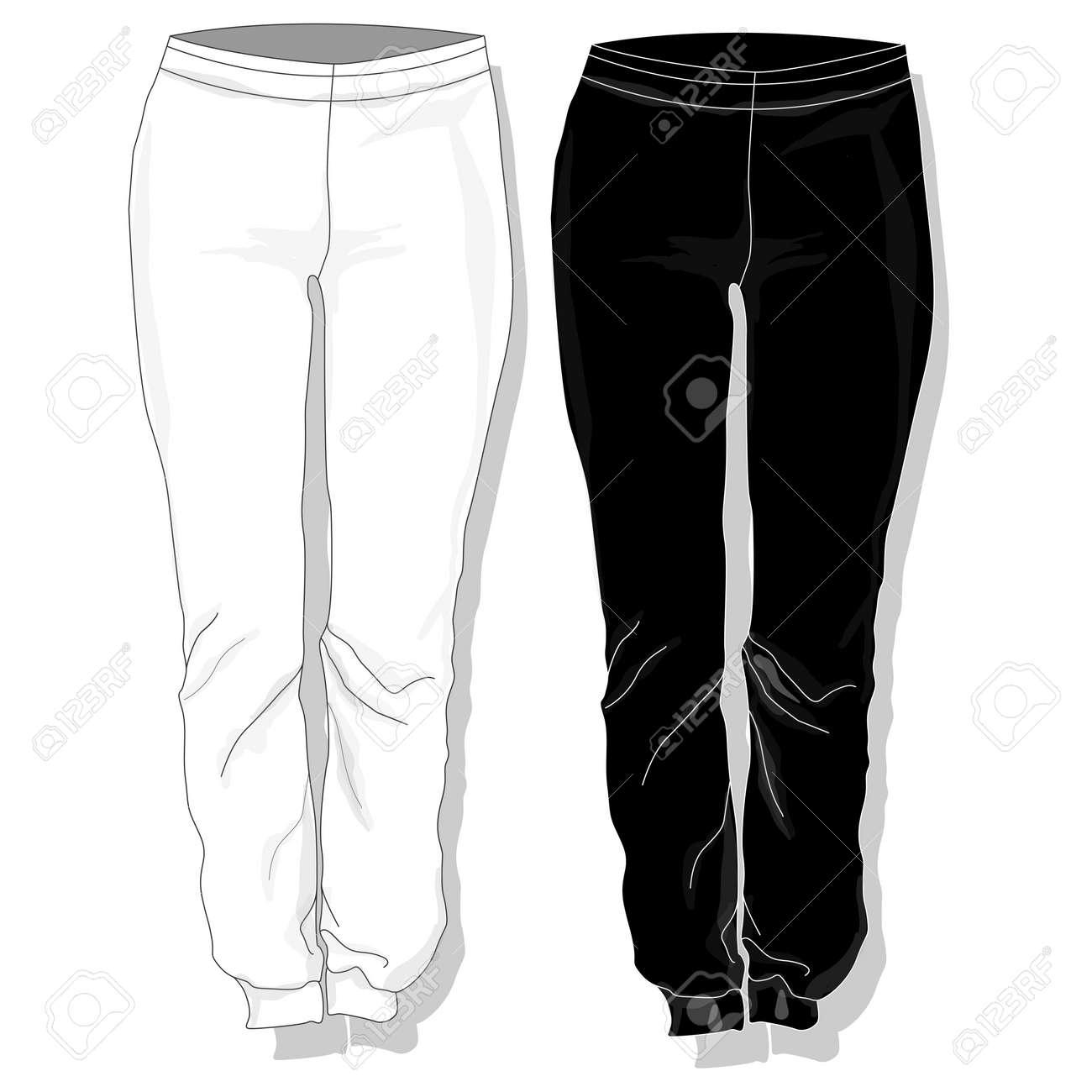 Pantalones Ropa De Mujer Aislado Ilustracion Vectorial Ilustraciones Vectoriales Clip Art Vectorizado Libre De Derechos Image 64359249