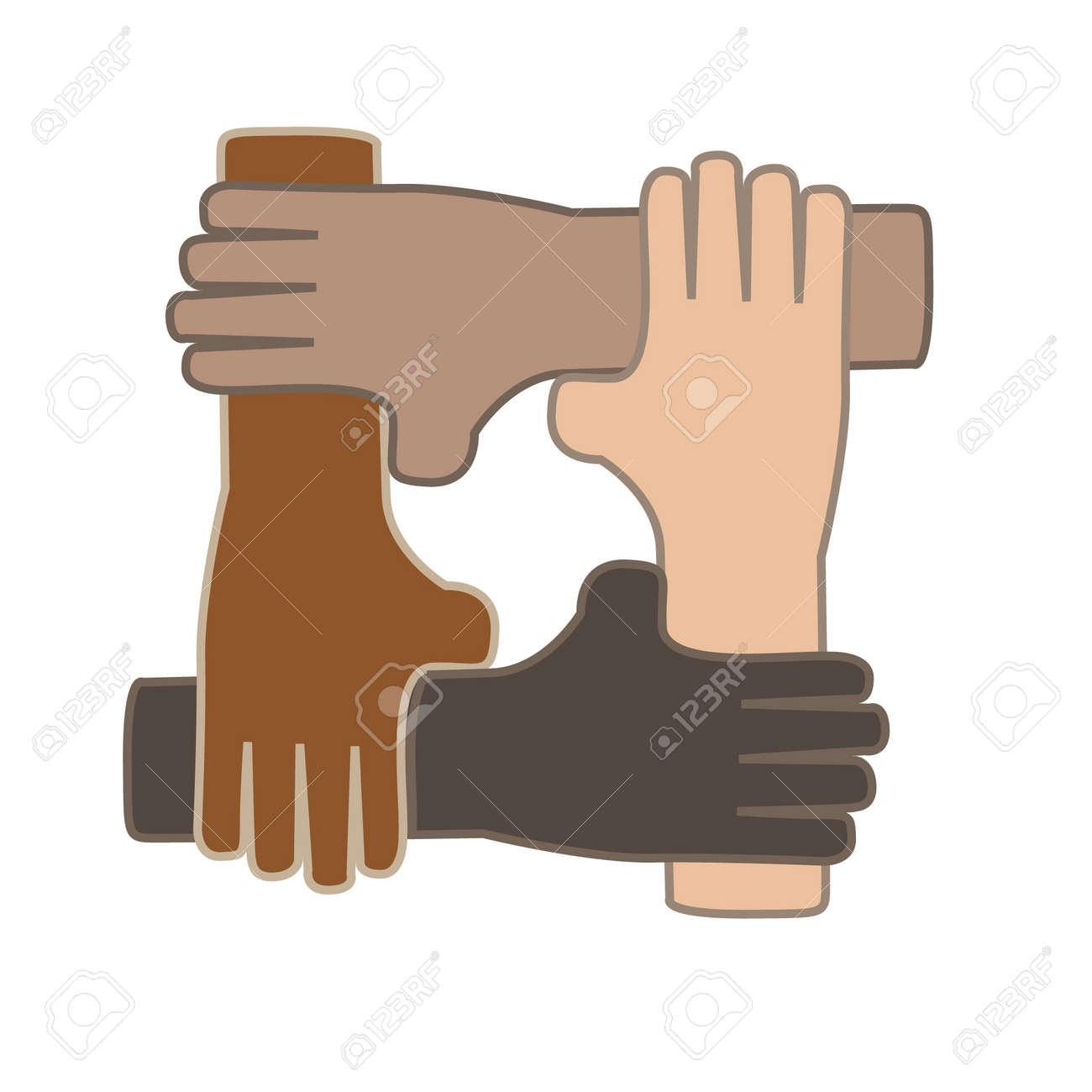 Hands Together As Symbol Of Unity And Partnership Royalty Free Cliparts Vectors And Stock Illustration Image 21193048