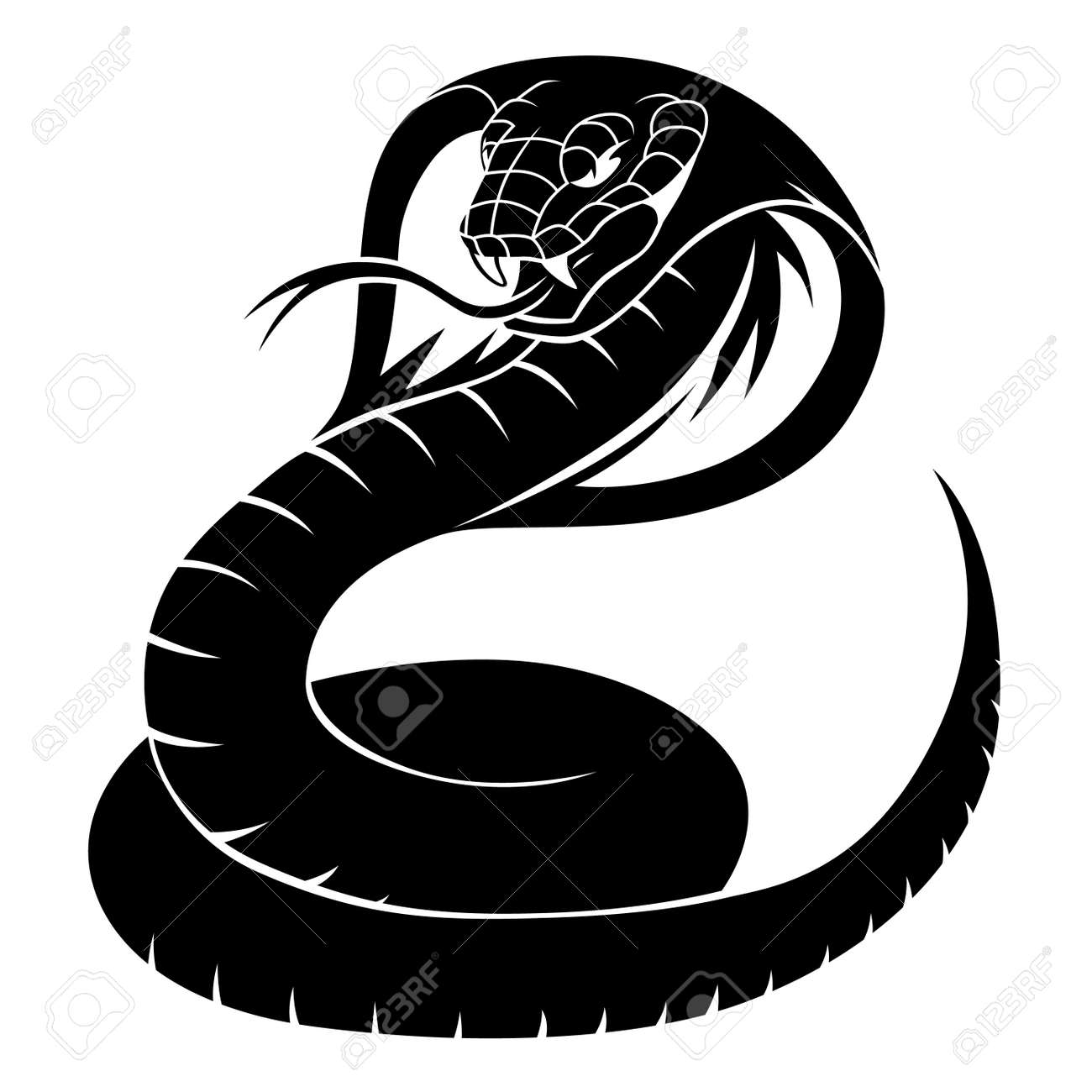 black tattoo cobra royalty free cliparts vectors and stock illustration image 56046431 black tattoo cobra