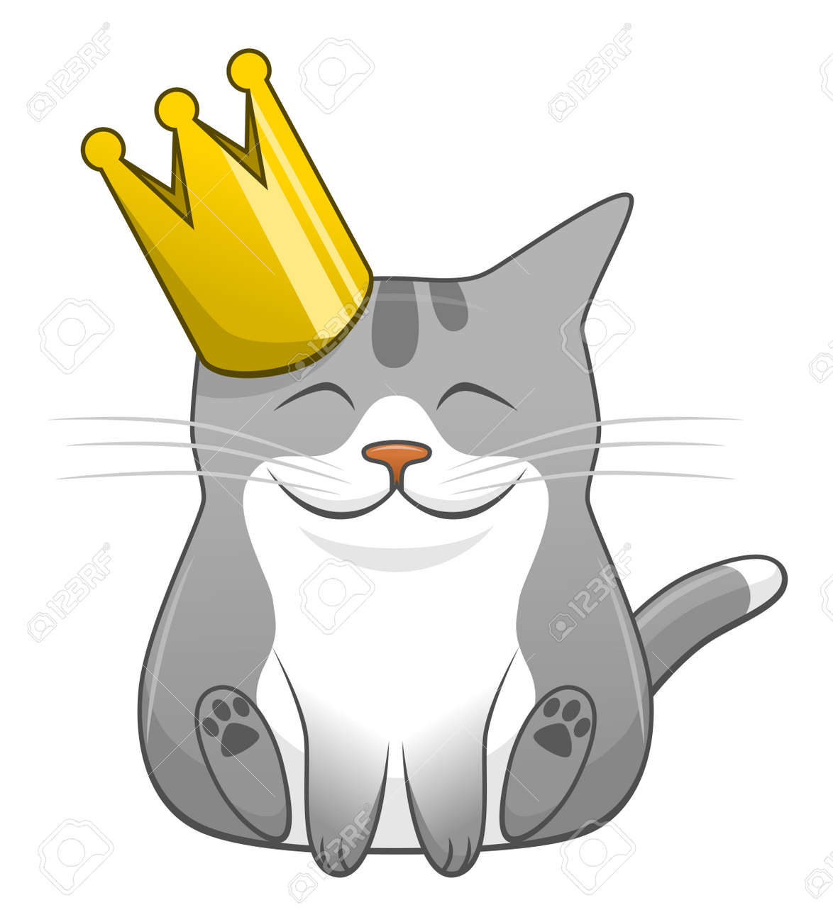 Cartoon Cute Cat With Crown Royalty Free Cliparts Vectors And Stock Illustration Image 99562390 This is only fan art. cartoon cute cat with crown