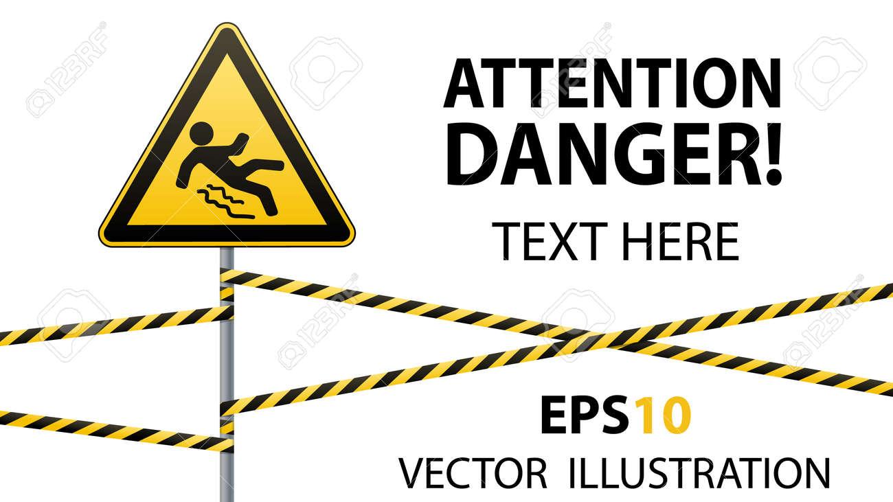 Depositphotos stock photo hazard sign beware slippery surface