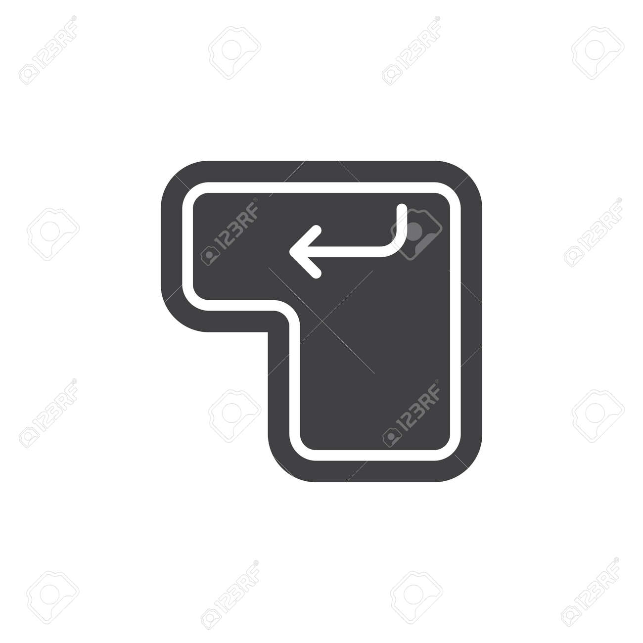 Enter keyboard key icon vector, filled flat sign, solid pictogram