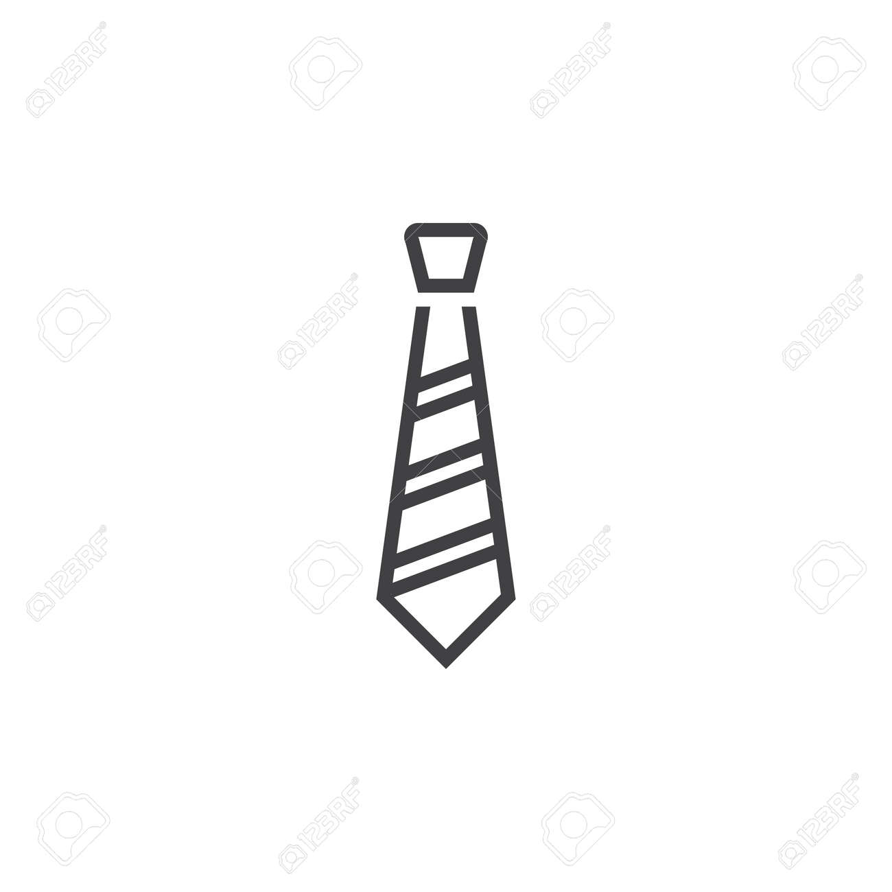 Dress Code, Tie Line Icon, Outline Vector Sign, Linear Pictogram ... for Tie Clip Art Black And White  29jwn