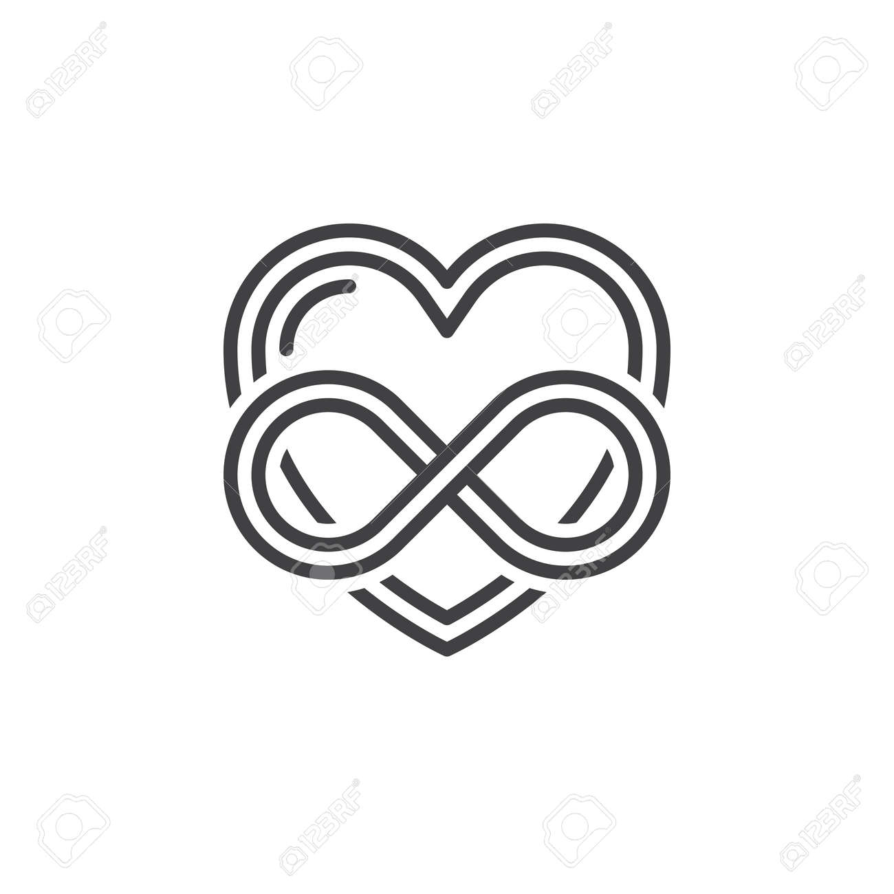 Eternal love line icon outline vector sign linear pictogram eternal love line icon outline vector sign linear pictogram isolated on white heart biocorpaavc