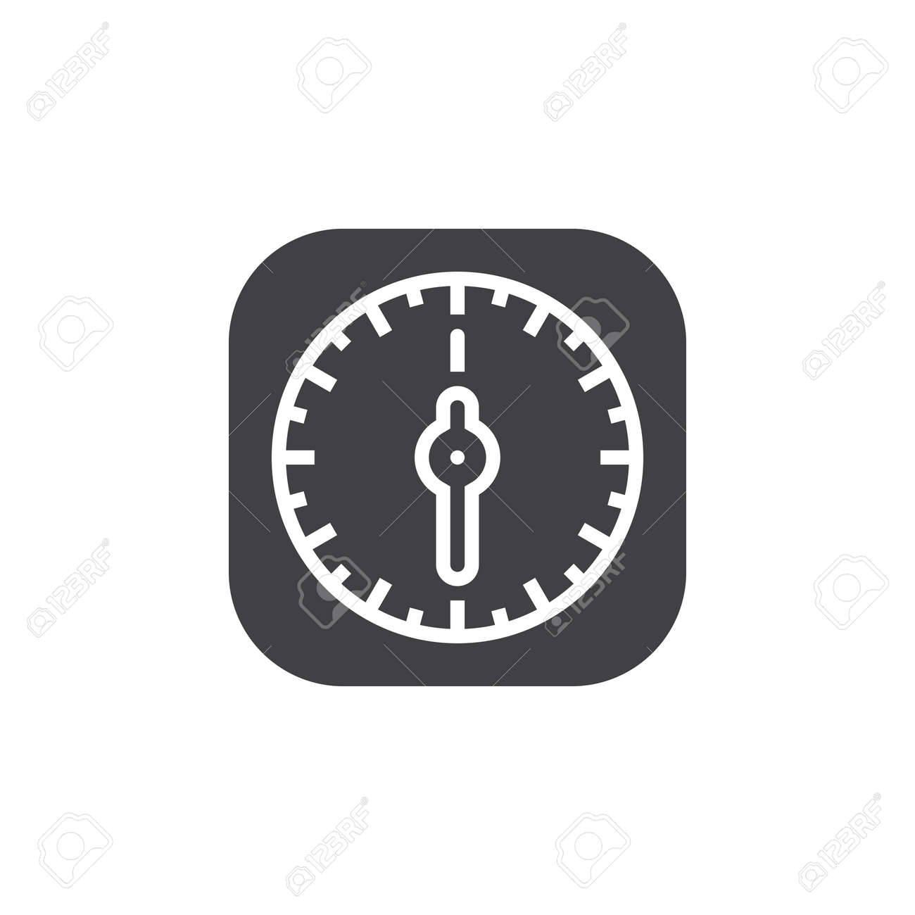 Kitchen Timer Icon Vector, Solid Flat Sign, Pictogram Isolated ...