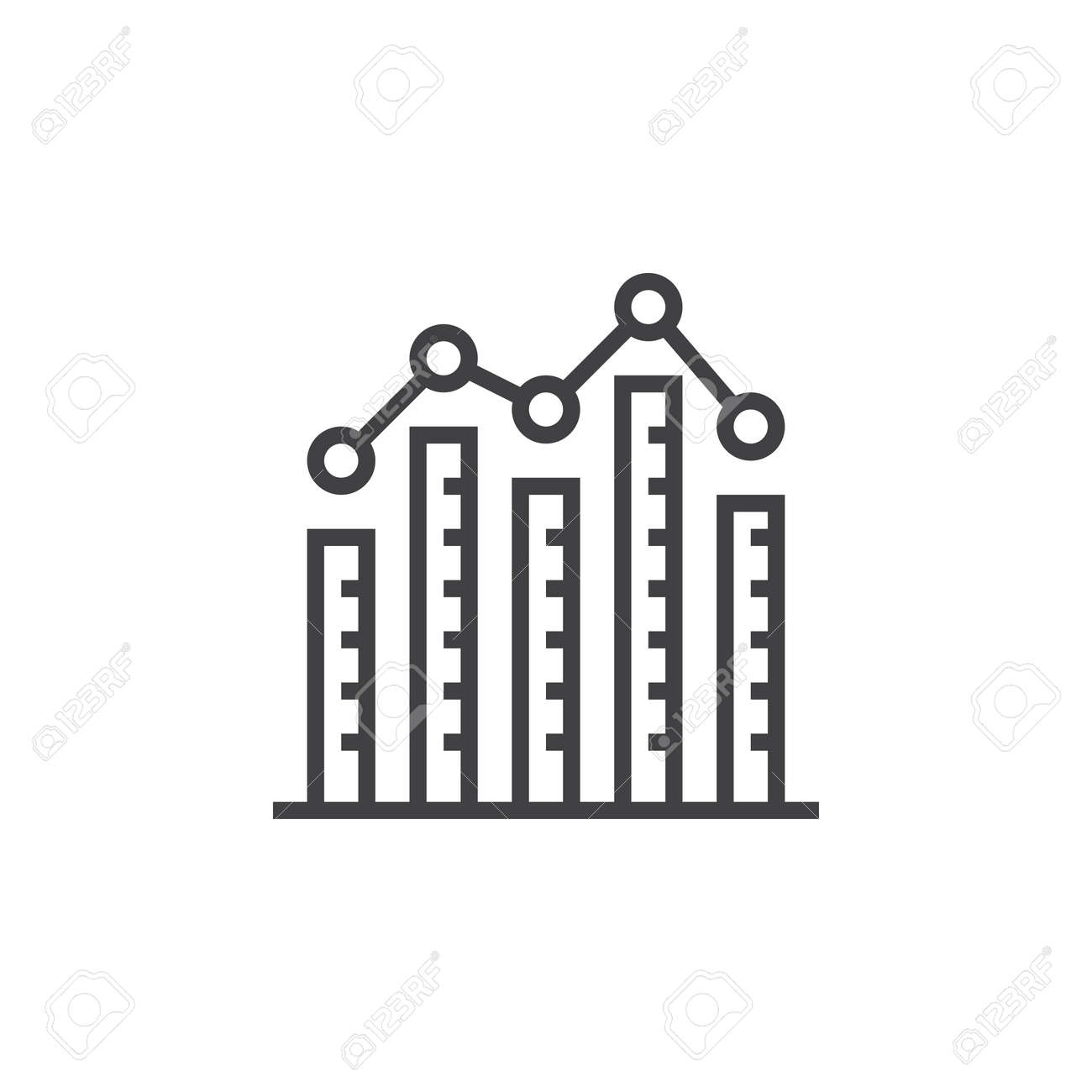 bar graph. column chart line icon, outline vector sign, linear