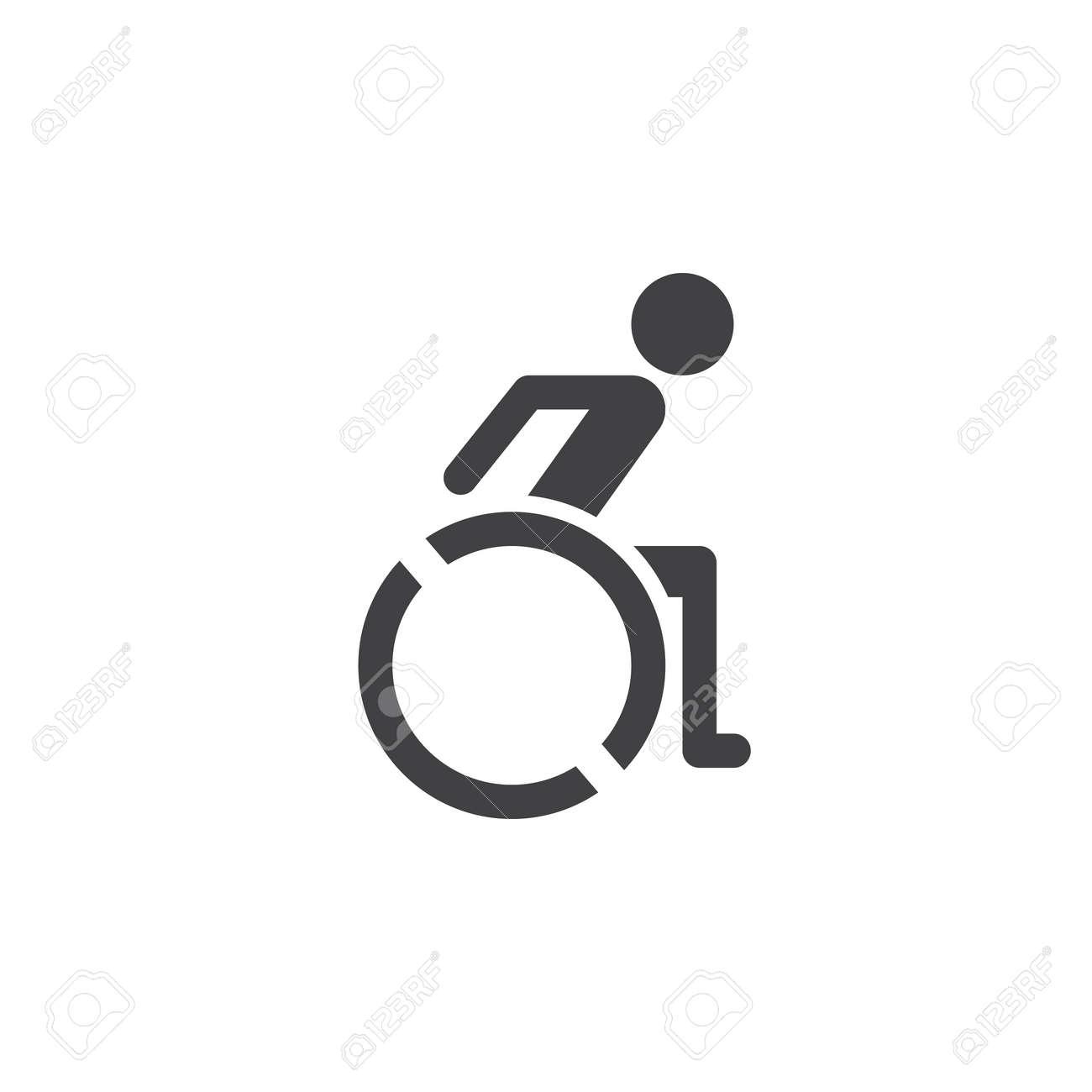 wheelchair icon vector handicap solid logo illustration pictogram