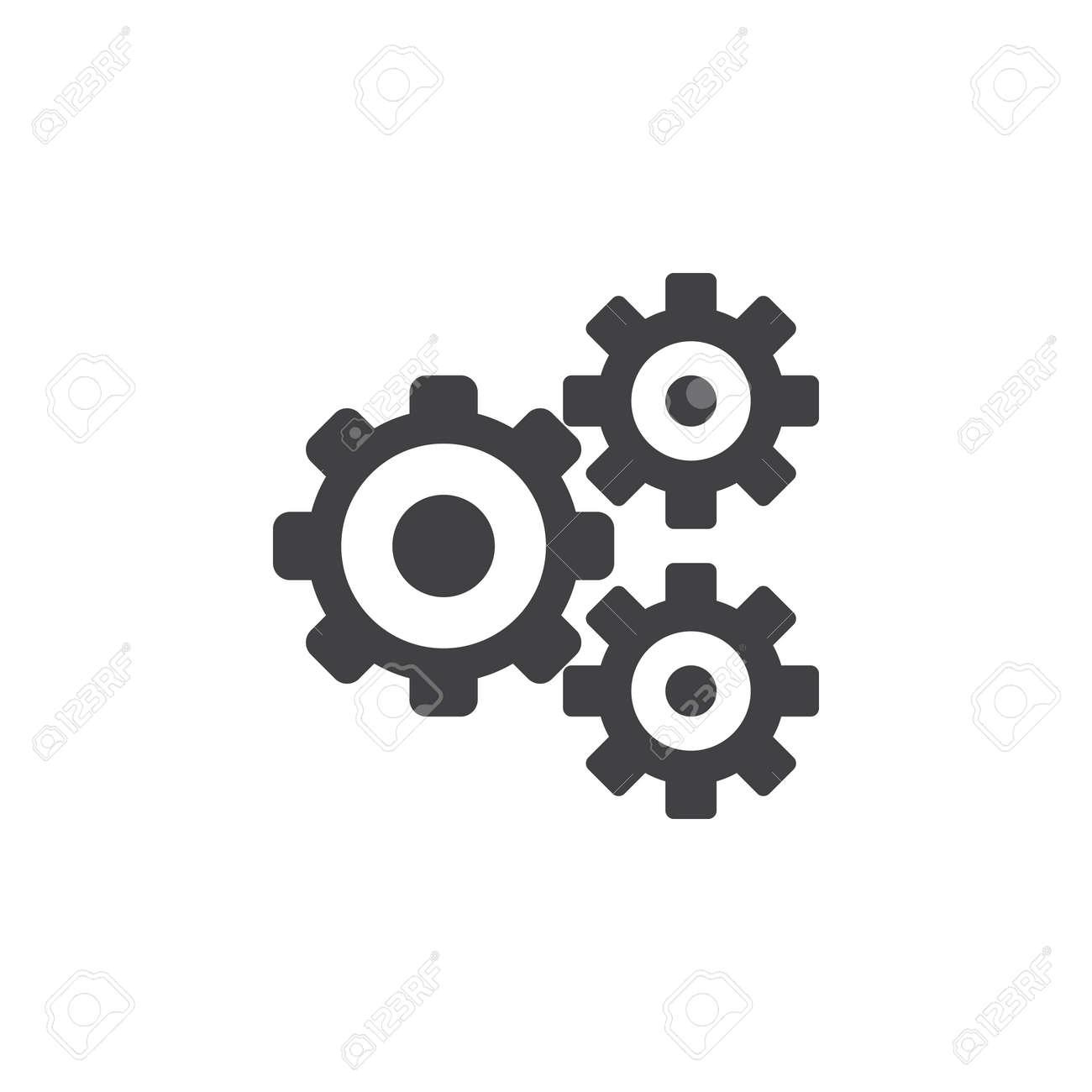 Einstellungen symbol vektor zahnrad solides logo illustration einstellungen symbol vektor zahnrad solides logo illustration zahnrad piktogramm auf weiem isoliert standard thecheapjerseys Image collections