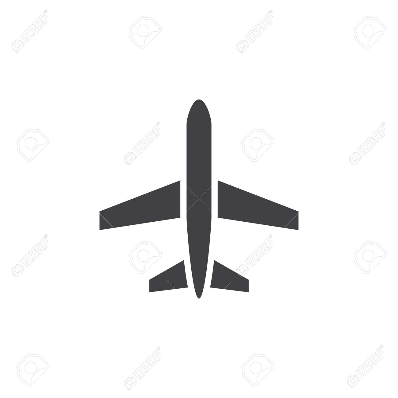 Plane Icon Vector Aircraft Solid Logo Airplane Pictogram Isolated