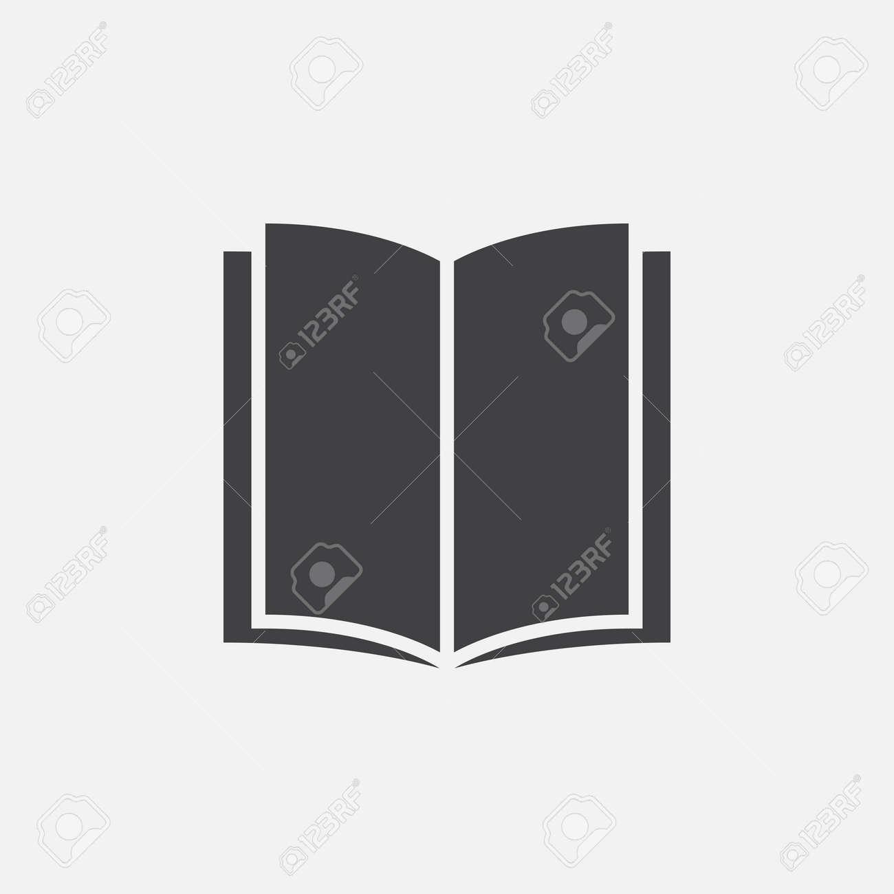 Livre Solide Icone Illustration Vectorielle Pictogramme Isole Sur Blanc