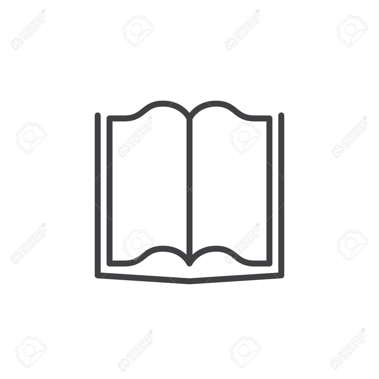 Icone De Ligne De Livre Logo Vectoriel De Contour Pictogramme Lineaire Isole Sur Blanc Illustration Parfaite De Pixel