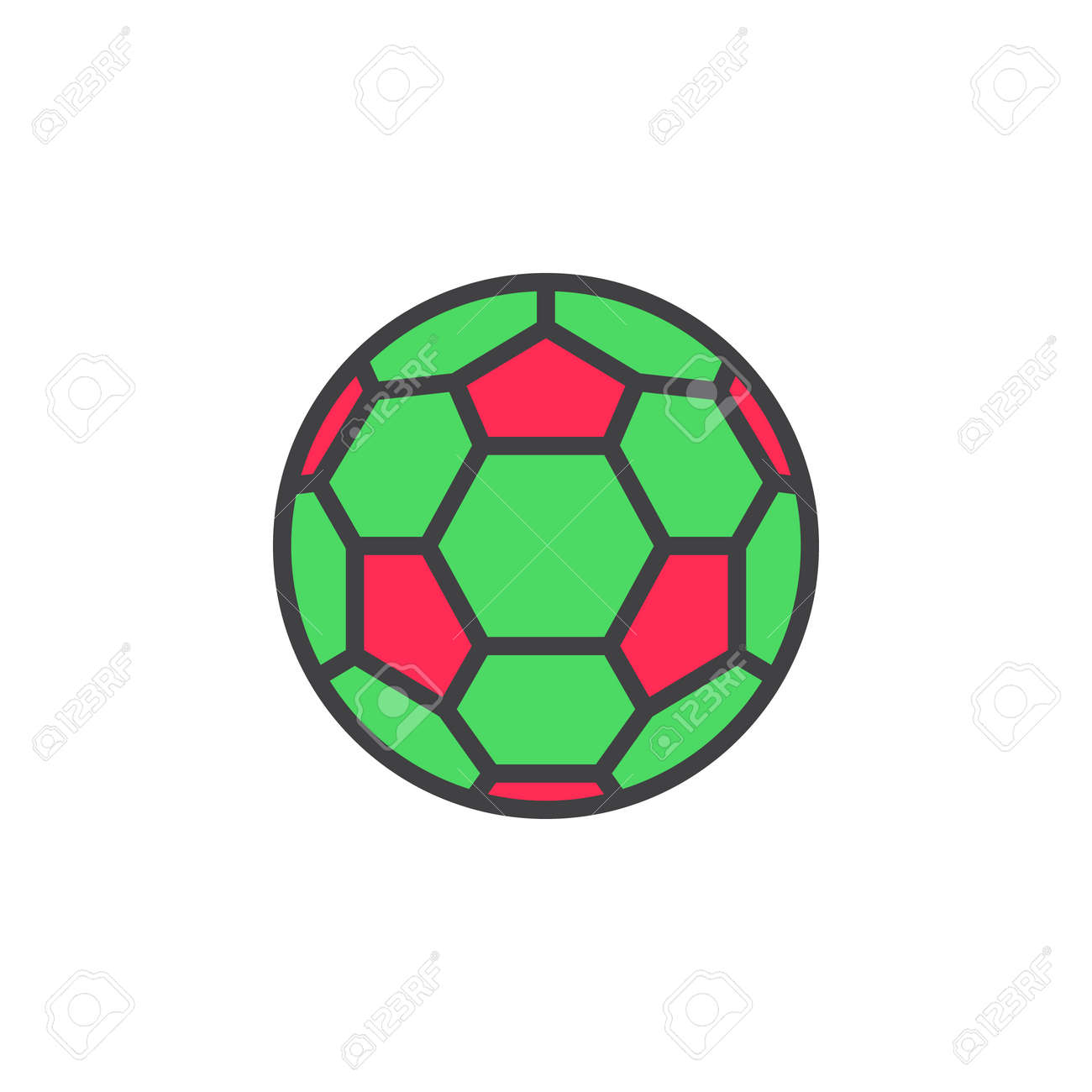 Soccer Ball Filled Outline Line Icon Line Vector Sign Linear