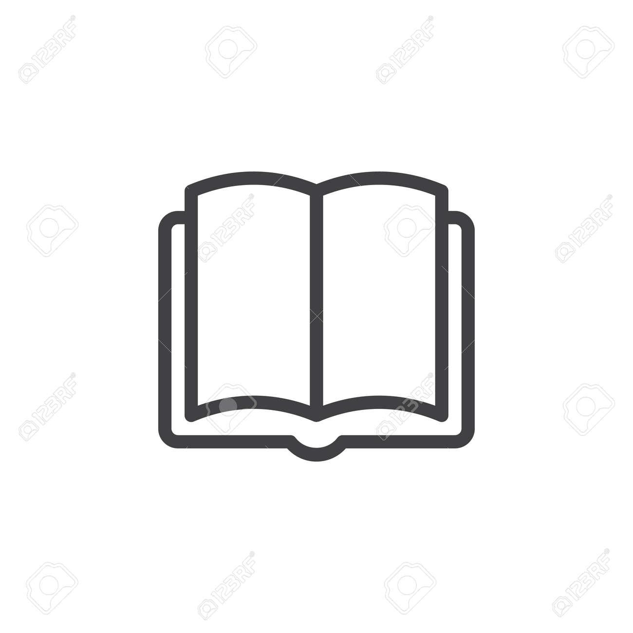 Icone De Ligne Livre Contour Vector Signe Pictogramme De Style Lineaire Isole Sur Blanc Symbole Illustration De Logo