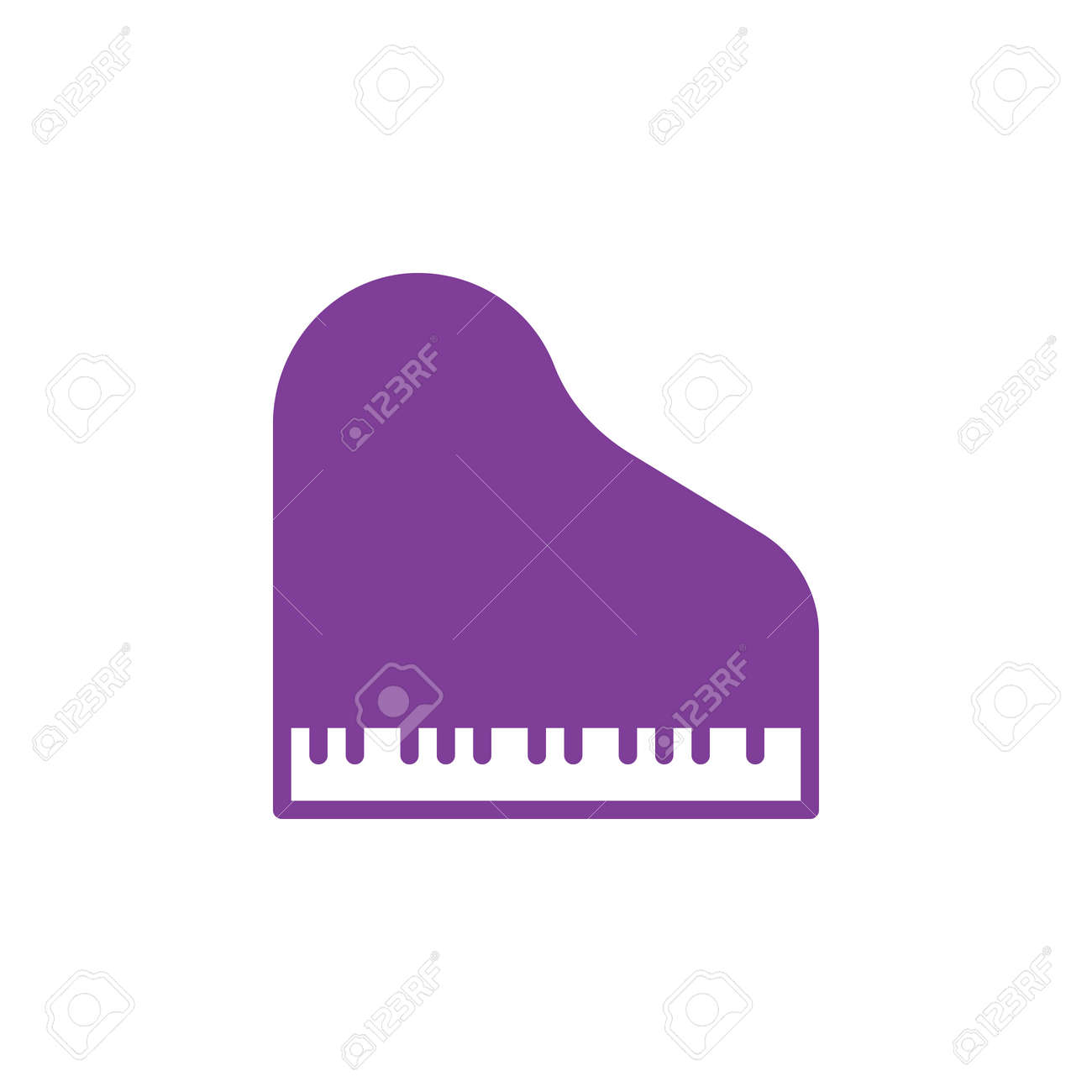 Grand Piano Icon Vector Filled Flat Sign Solid Colorful Pictogram Isolated On White