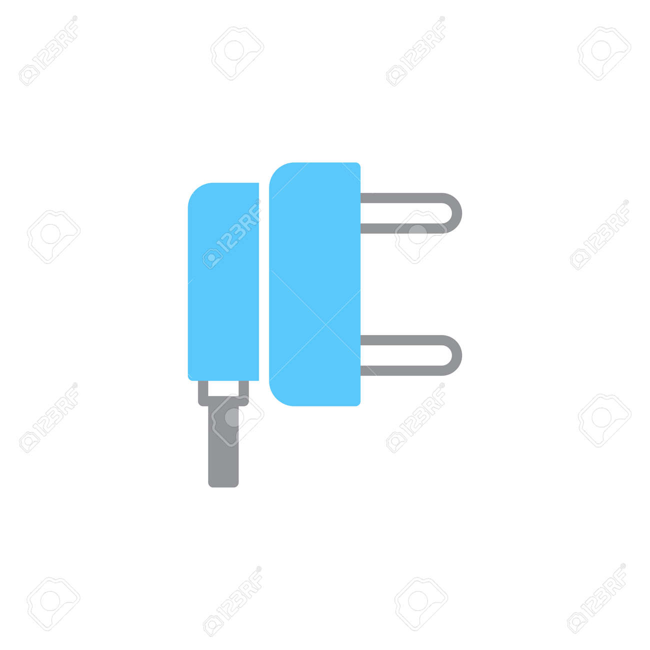 AC Power Plug Icon Vector, Filled Flat Sign, Solid Colorful ...