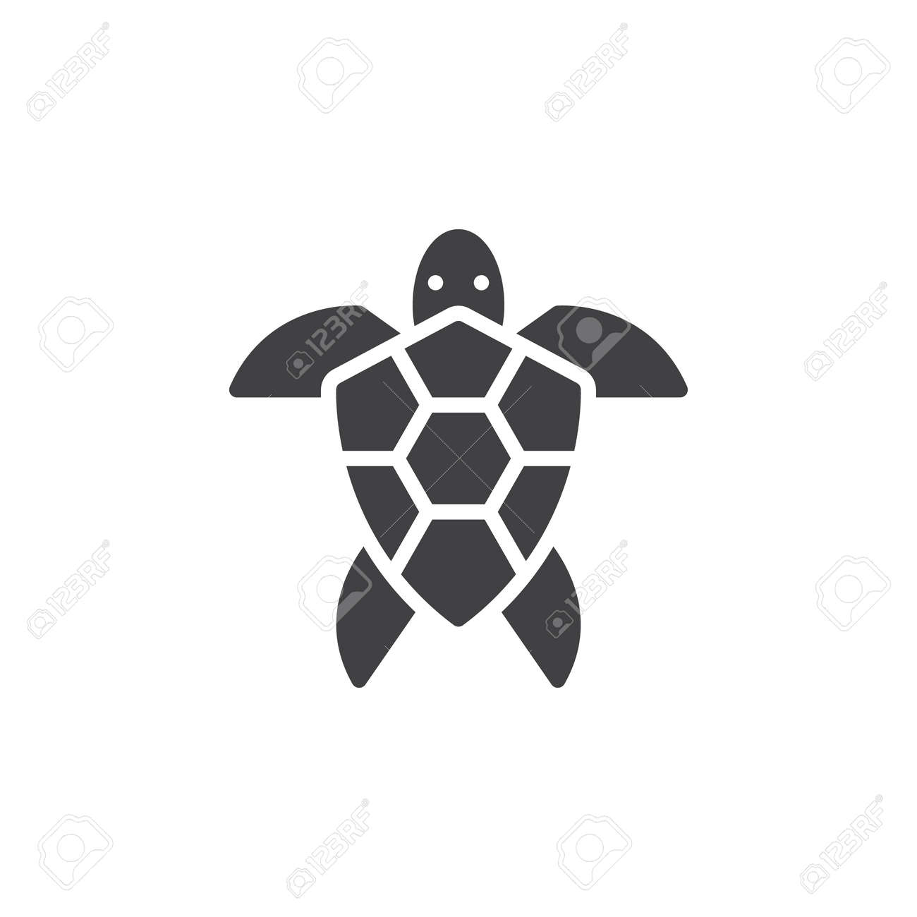 sea turtle icon vector filled flat sign solid pictogram isolated rh 123rf com Sea Turtle SVG Colorful Sea Turtles