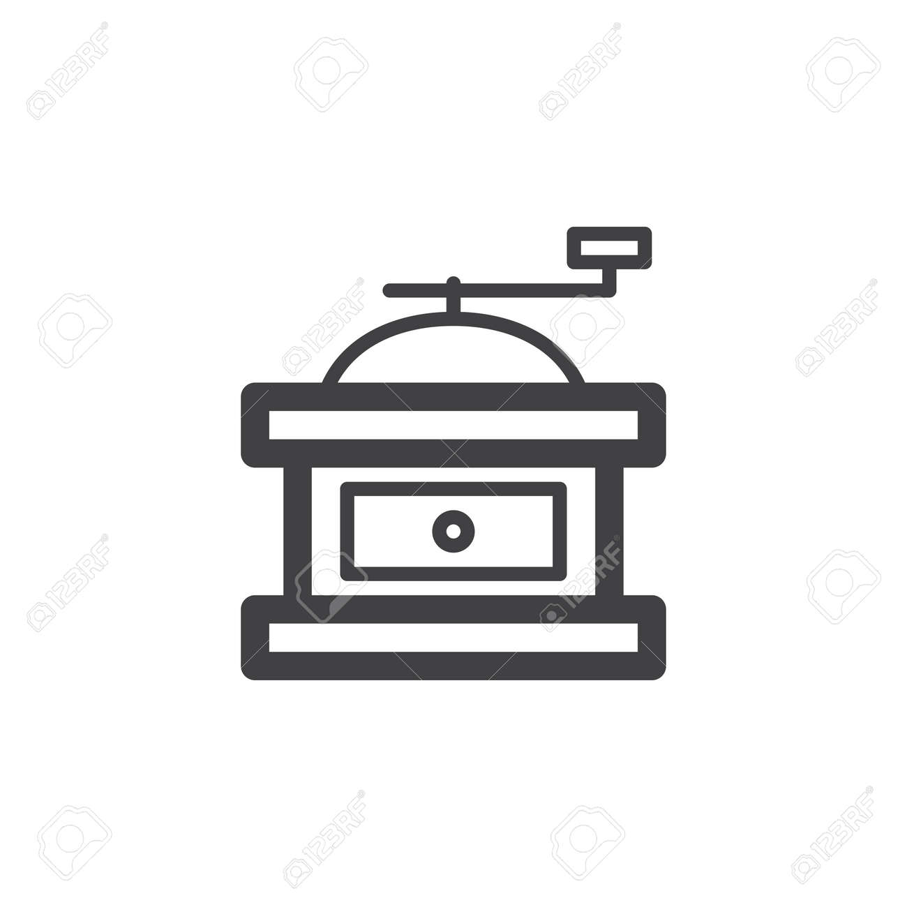Manual transport of fragile materials. Vector icon. Stock vector.