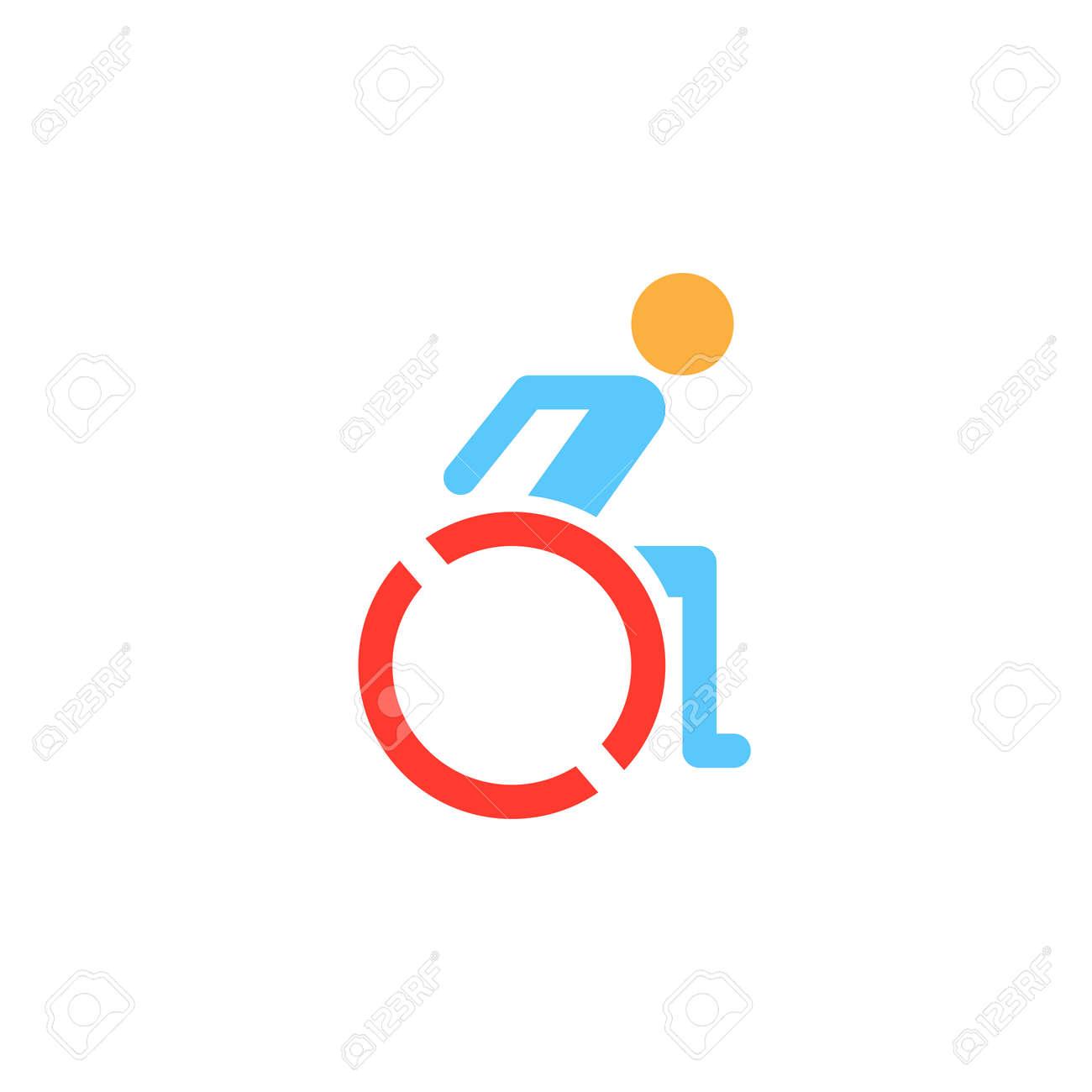 wheelchair icon vector handicap solid logo illustration colorful