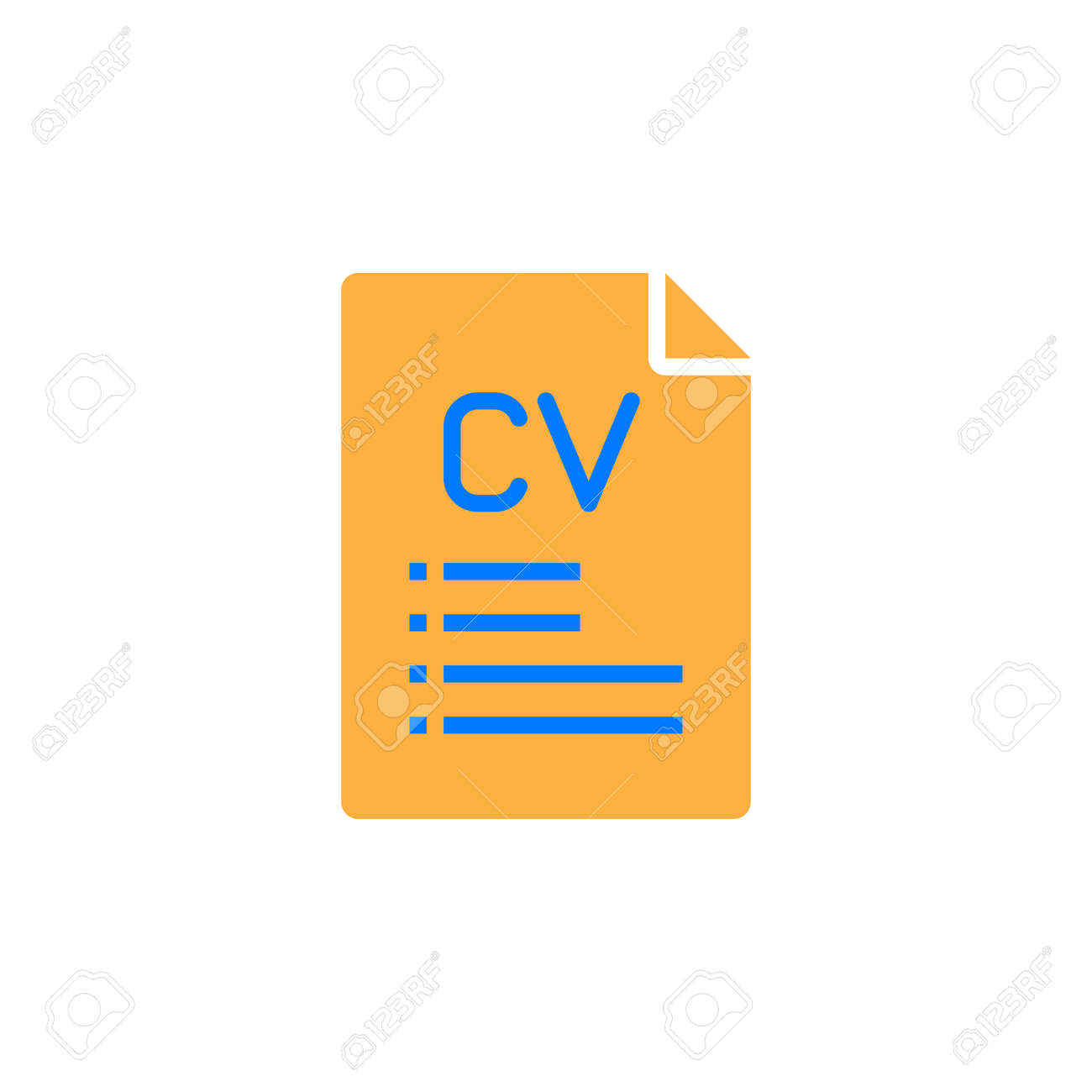 Cv resume icon vector filled flat sign solid colorful pictogram cv resume icon vector filled flat sign solid colorful pictogram isolated on white ccuart Image collections