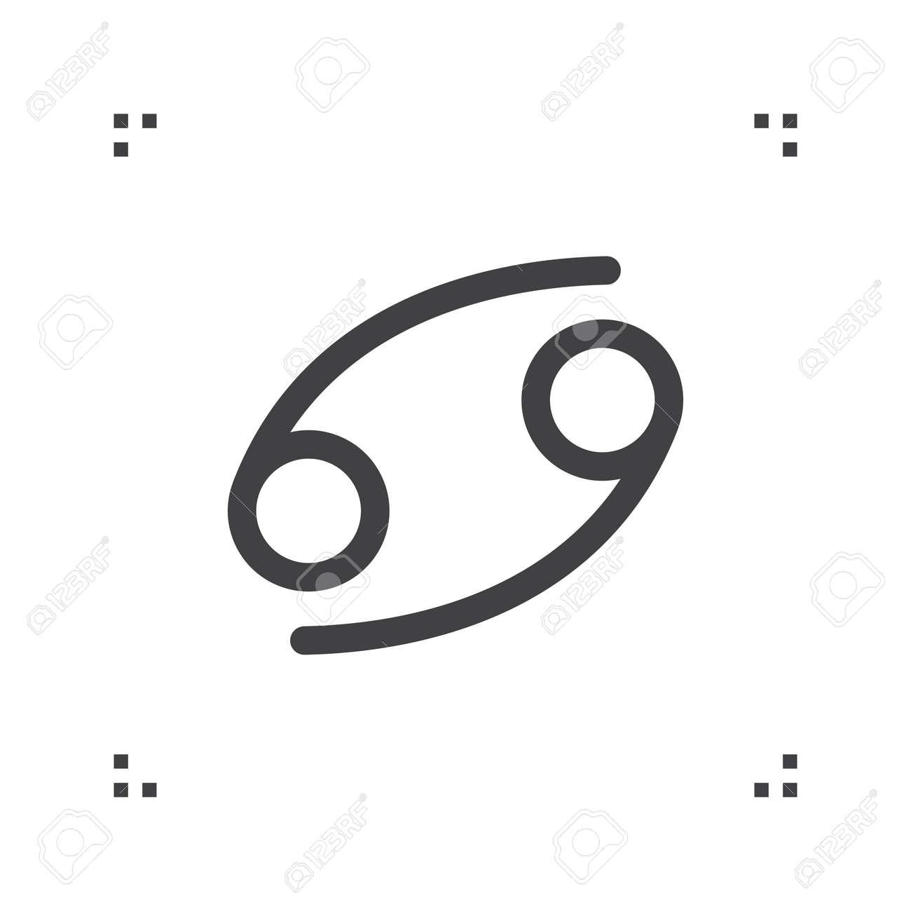 Cancer Zodiac Vector Sign Horoscope Symbol Astrology Line Icon