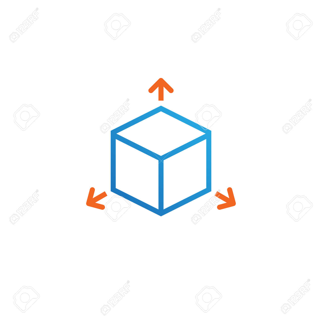Cube line icon outline vector logo illustration linear pictogram cube line icon outline vector logo illustration linear pictogram isolated on white stock vector ccuart Image collections