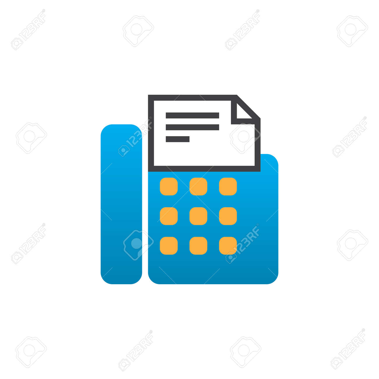 fax machine icon vector telefax solid logo illustration colorful royalty free cliparts vectors and stock illustration image 77920875 fax machine icon vector telefax solid logo illustration colorful