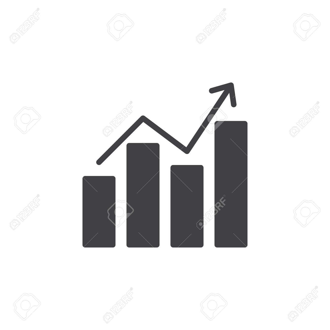 Chart graph with arrow icon vector filled flat sign solid chart graph with arrow icon vector filled flat sign solid pictogram isolated on white ccuart Image collections