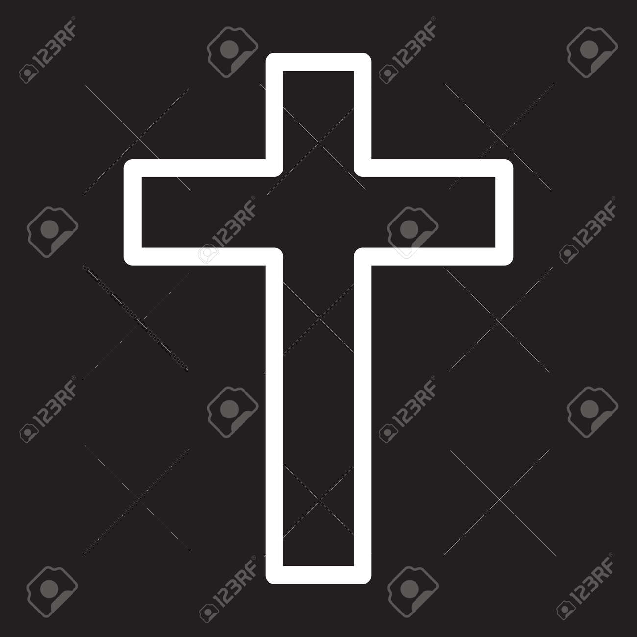 Christian Cross Line Icon Christianity White Outline Sign Vector Royalty Free Cliparts Vectors And Stock Illustration Image 78500010 Download 33,000+ royalty free cross outline vector images. christian cross line icon christianity white outline sign vector