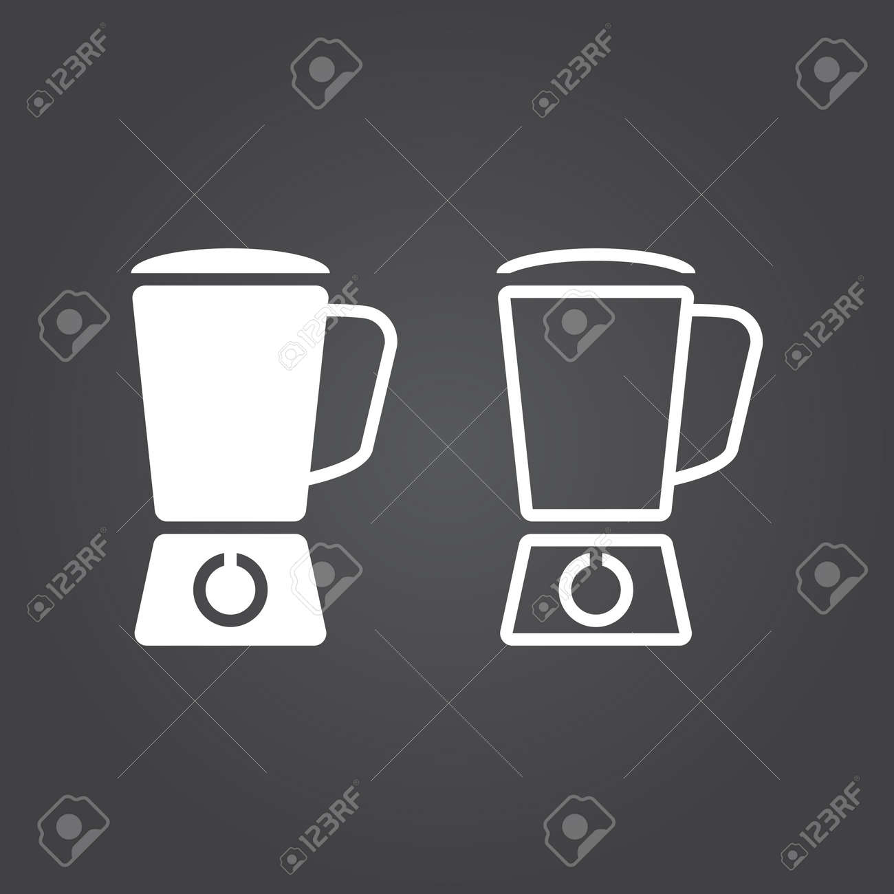blender icon  Solid and Outline Versions  White icons on a dark