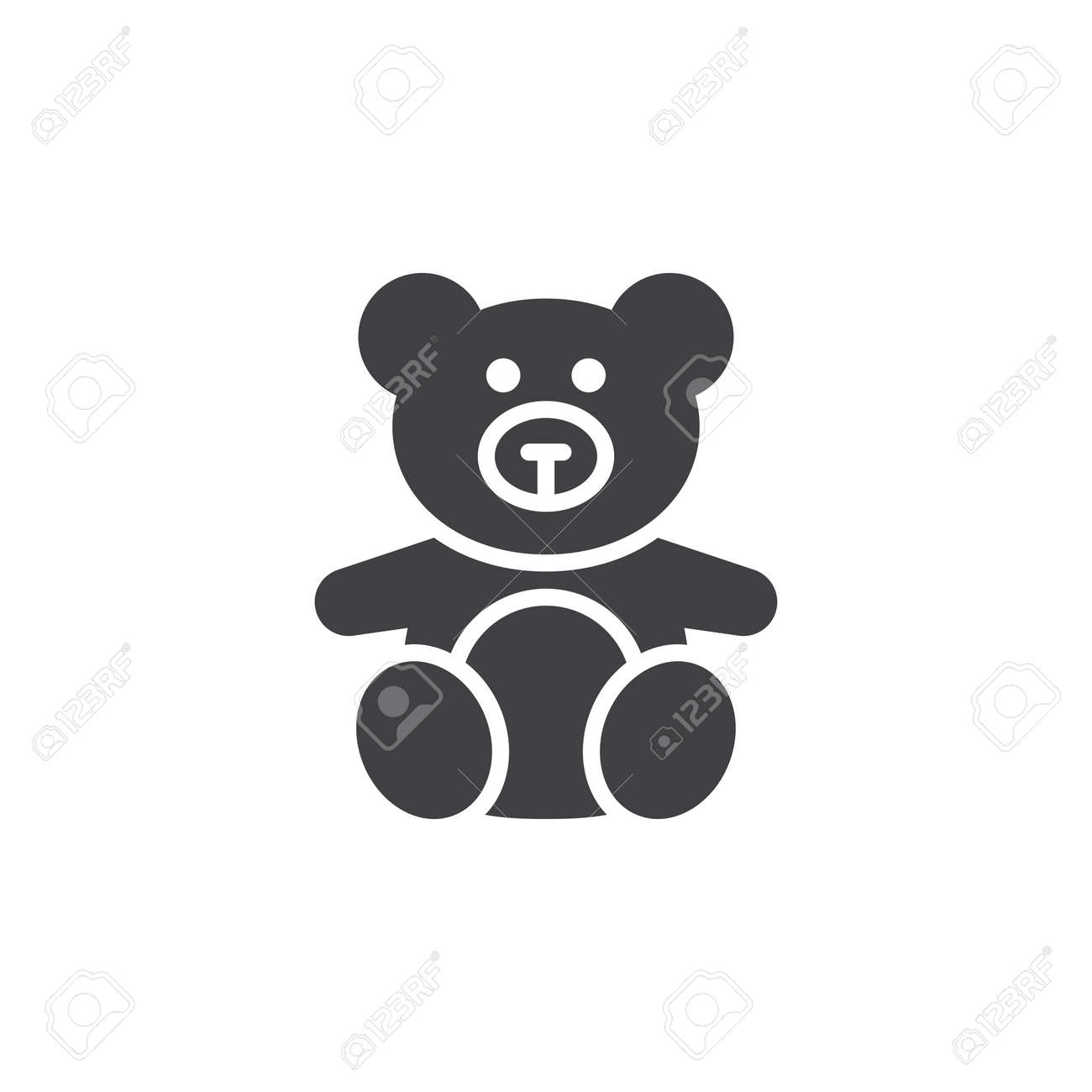 soft toy teddy bear icon vector filled flat sign solid pictogram royalty free cliparts vectors and stock illustration image 79302265 soft toy teddy bear icon vector filled flat sign solid pictogram