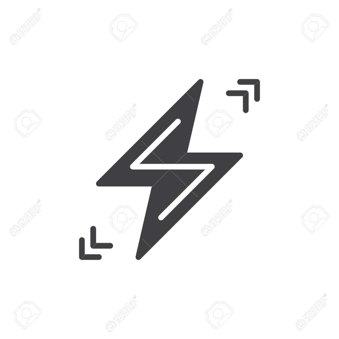 Lightning Bolt Icon Vector, Filled Flat Sign, Solid Pictogram ...